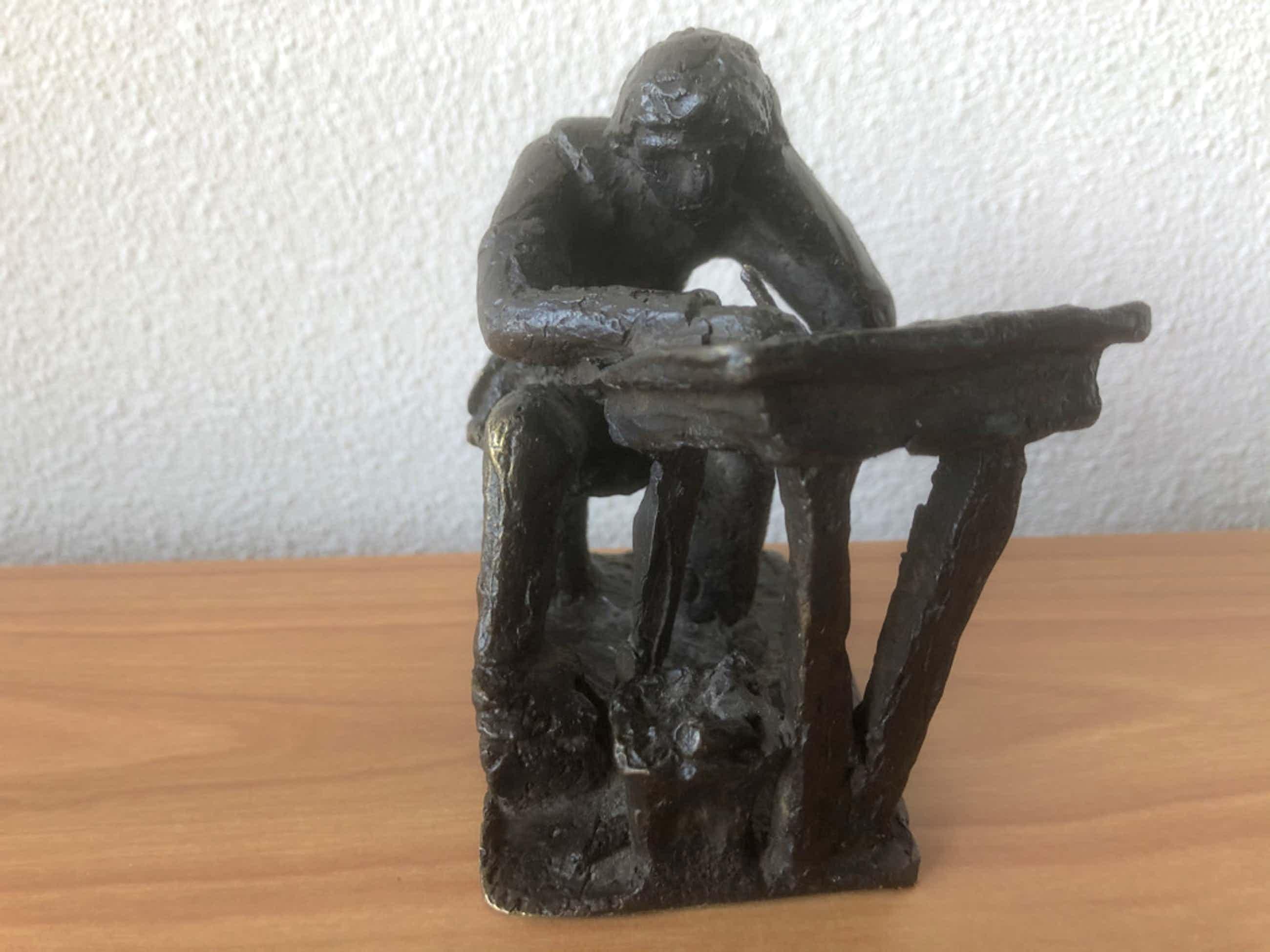 Klaas van den Berg - Zwaar bronzen beeld met certificaat. kopen? Bied vanaf 65!