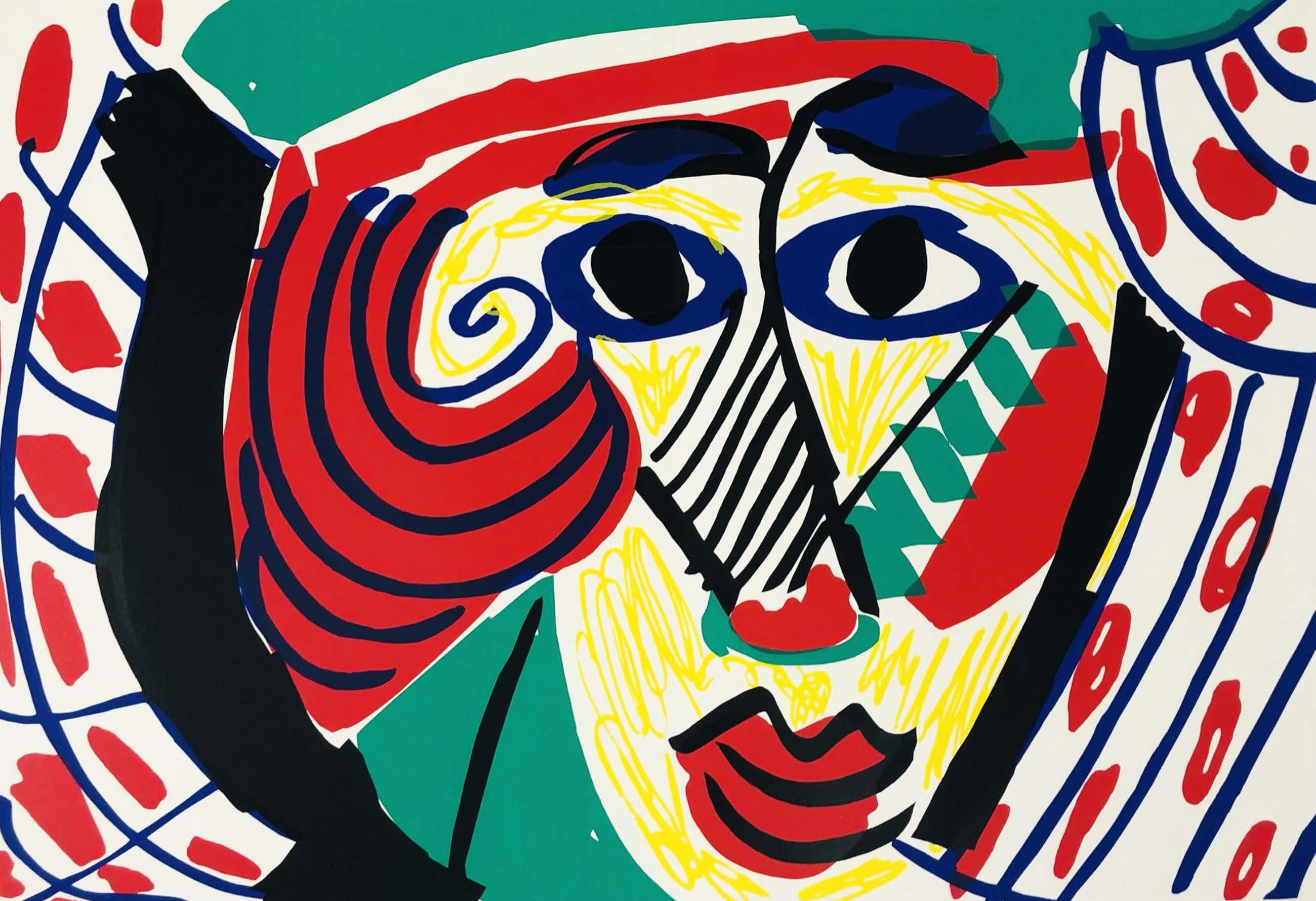 Yolande Brouwers - Hoofd met blauw, wit, rode blouse kopen? Bied vanaf 45!