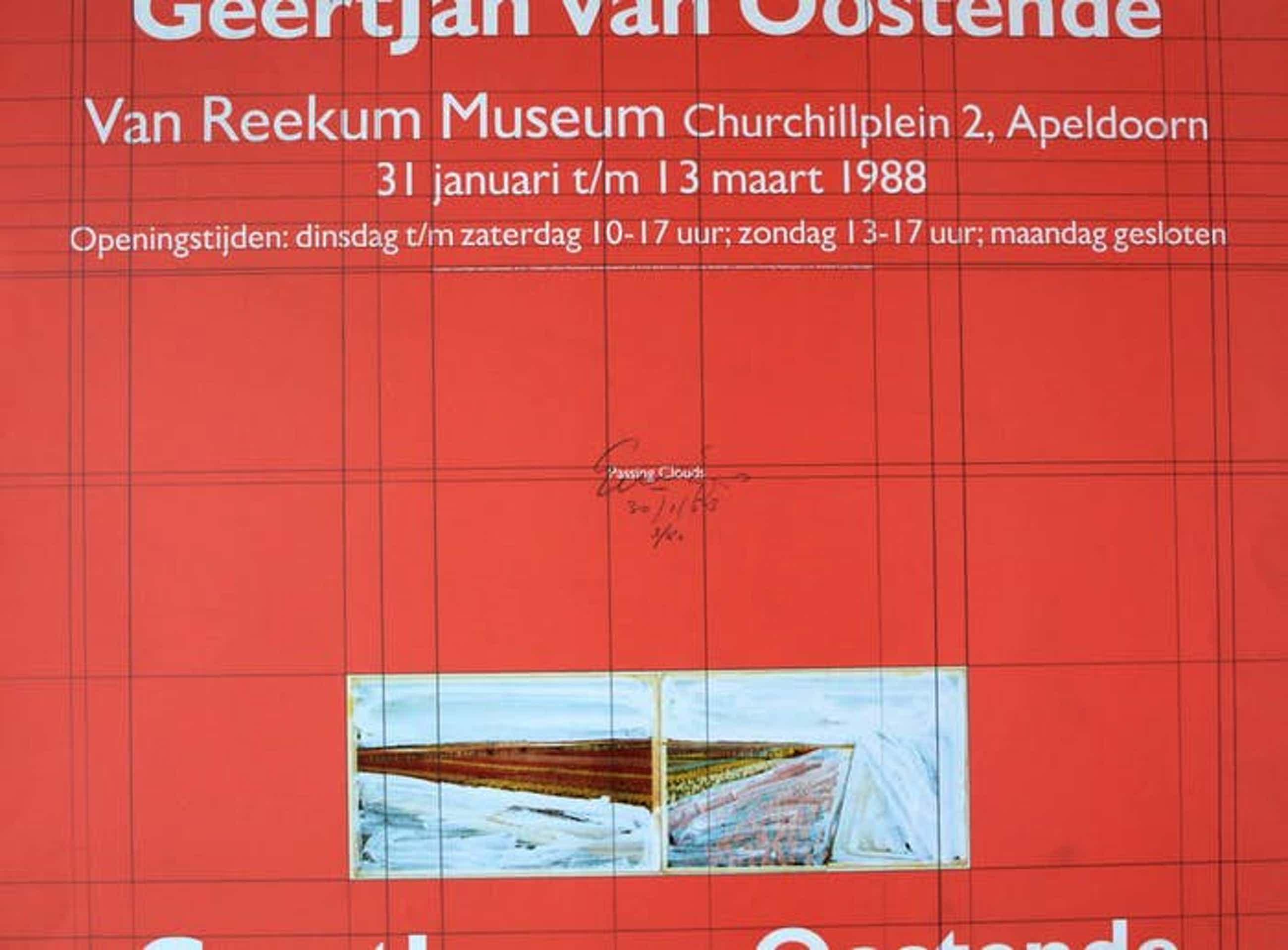 Geertjan van Oostende - Zeefdruk: Van Reekum Museum - 1988 kopen? Bied vanaf 25!