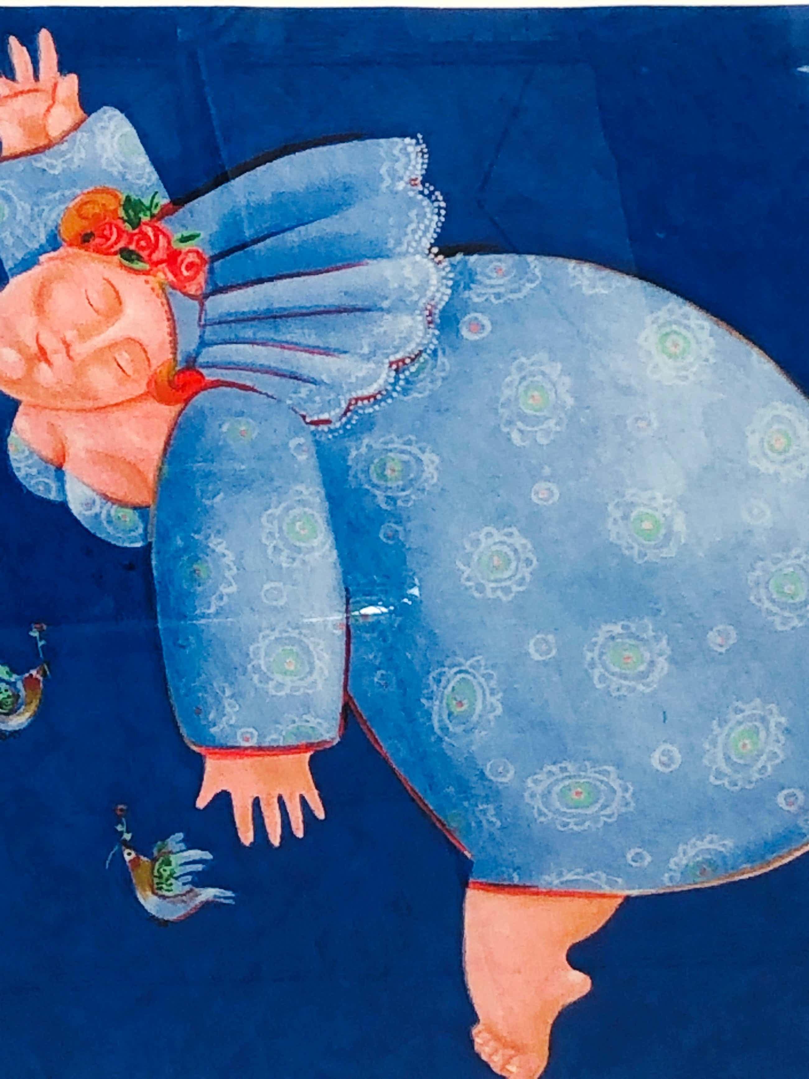 Ada Breedveld - De blauwe dame met lijst! kopen? Bied vanaf 125!