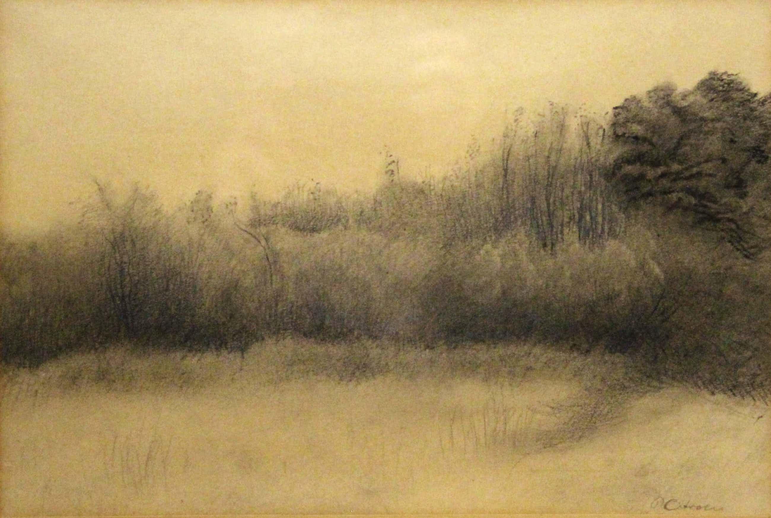 Paul Citroen - houtskooltekening - landschap met bomen en struiken kopen? Bied vanaf 275!