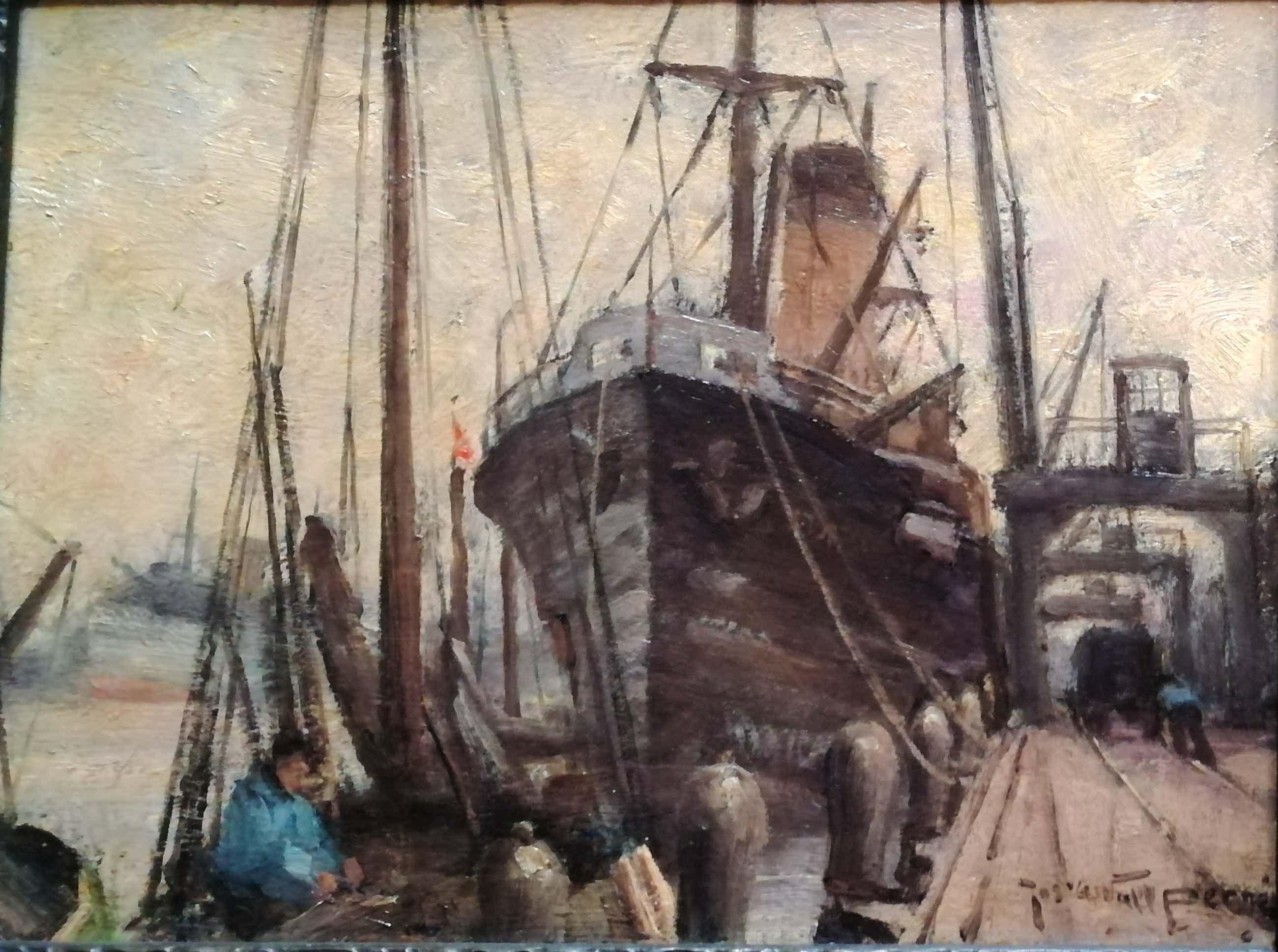 Joseph van de Wall Perne - Vrachtschip aan de kade kopen? Bied vanaf 190!