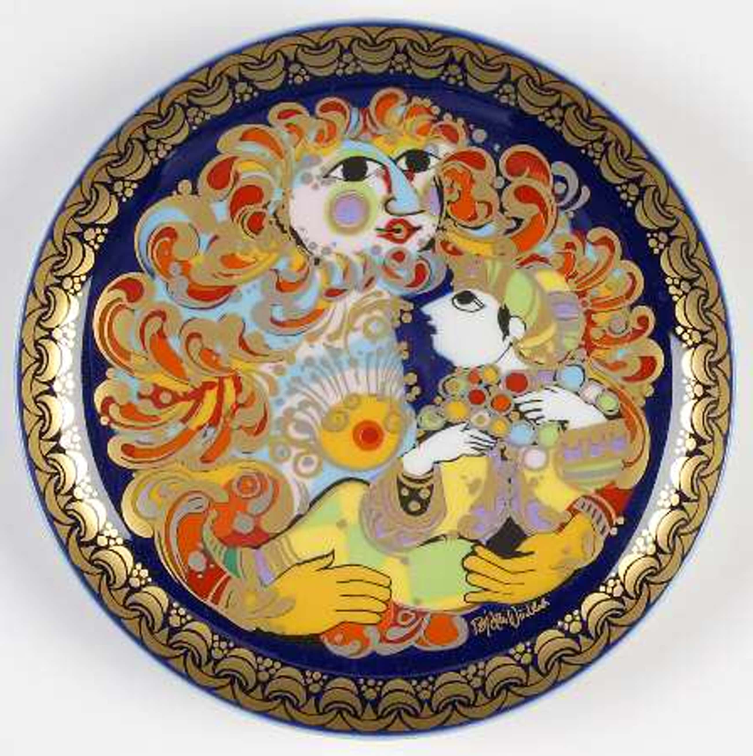 Bjorn Wiinblad - Aladin und die Wunderlampe (gedecoreerd porseleinen wandbord) kopen? Bied vanaf 11!