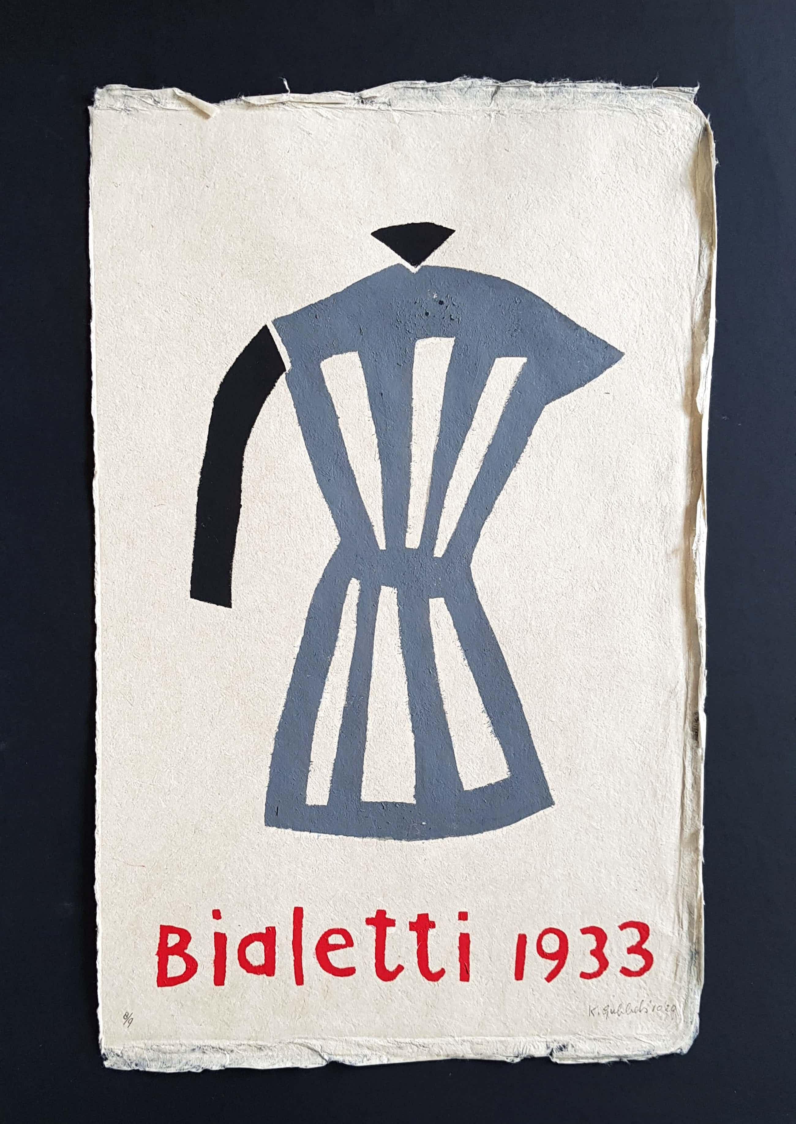 Klaas Gubbels - 'Bialetti 1933' (sjabloondruk) 63 x 39 cm Kleine oplage 8/9 kopen? Bied vanaf 520!