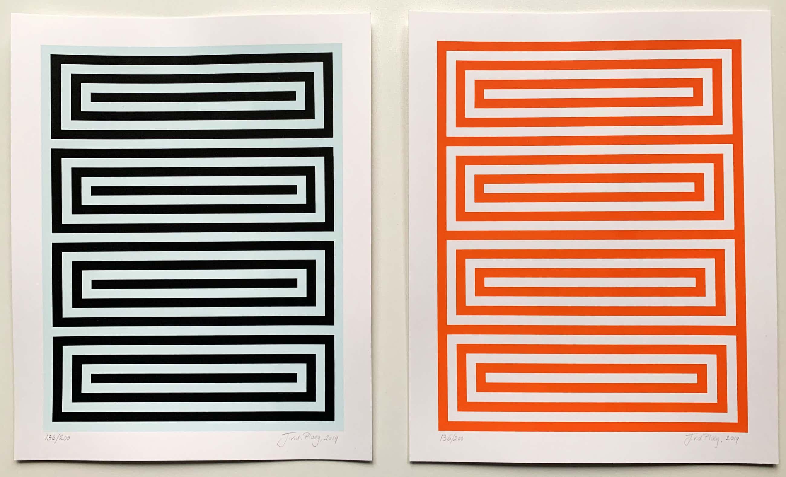 Jan van der Ploeg - Set van twee handgesigneerde kleurenzeefdrukken - zonder titel - 2019 kopen? Bied vanaf 475!