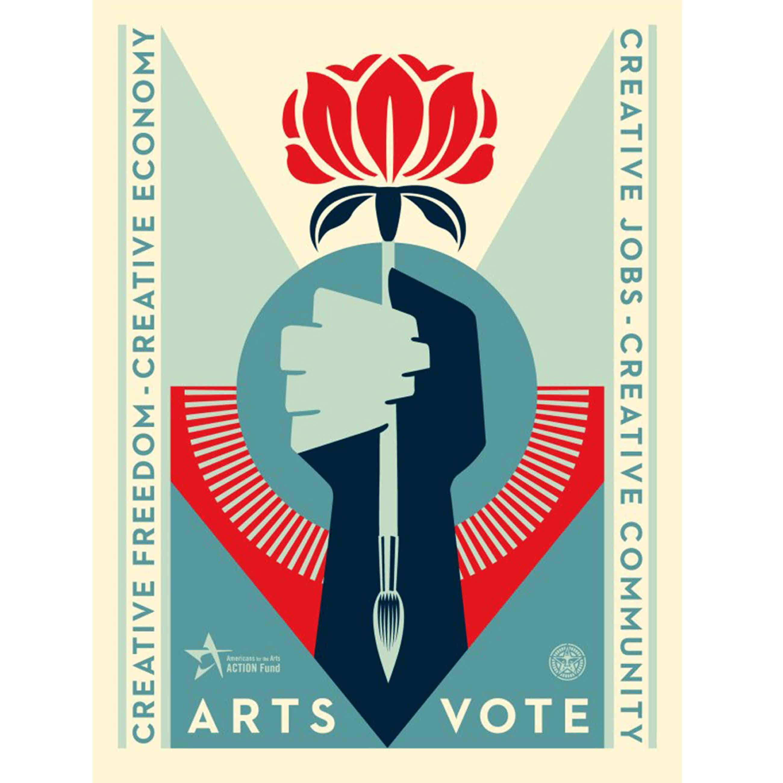 Shepard Fairey - Arts Vote kopen? Bied vanaf 275!