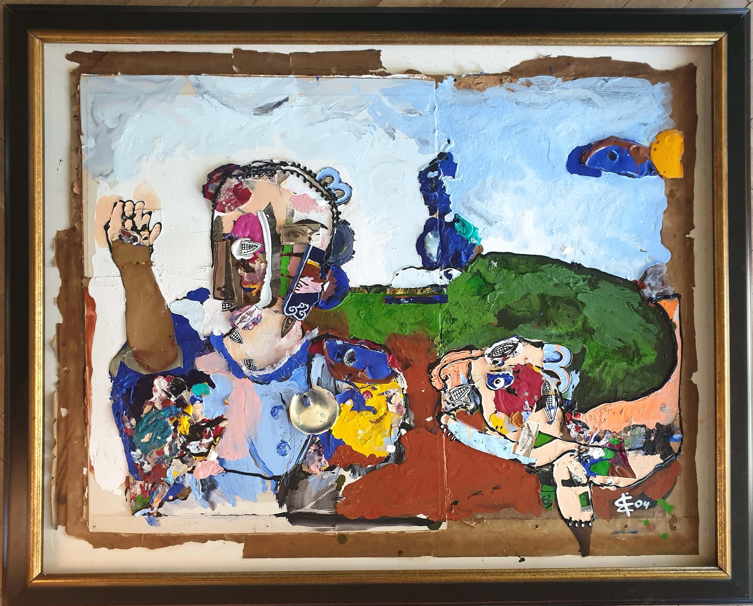 Albert Niemeyer - Groot origineel werk - Juguaetear - 2004 - Collage/ Gemengd kopen? Bied vanaf 875!