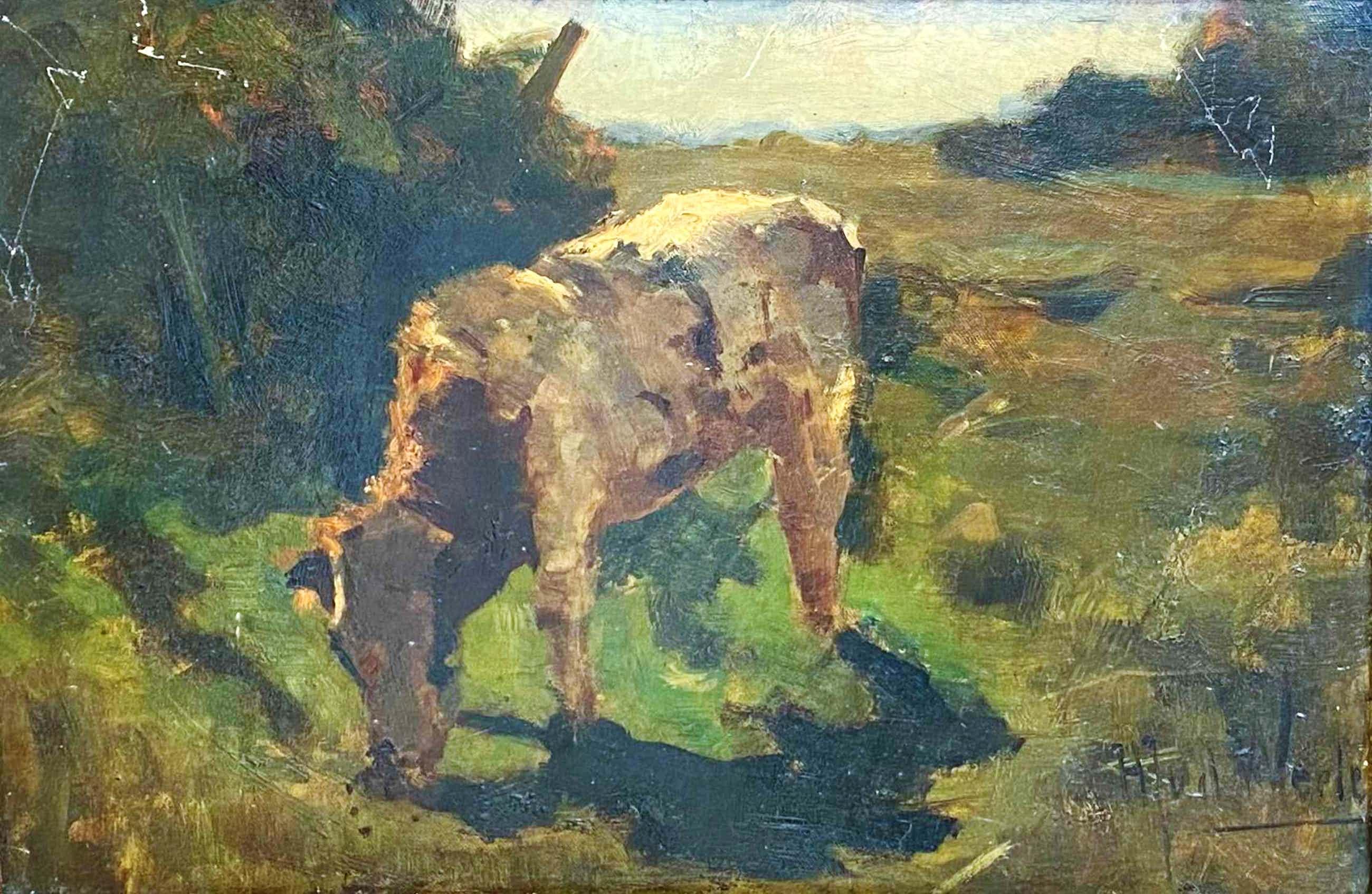 Herman van der Weele - C4323 - Grazende koe in het landschap kopen? Bied vanaf 300!