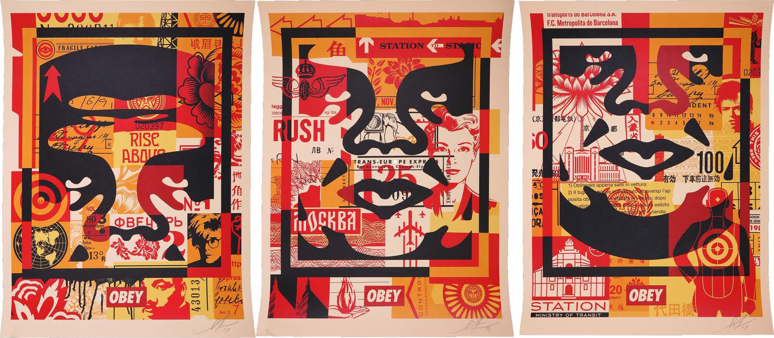 Shepard Fairey - OBEY - Three faces (collage) kopen? Bied vanaf 90!
