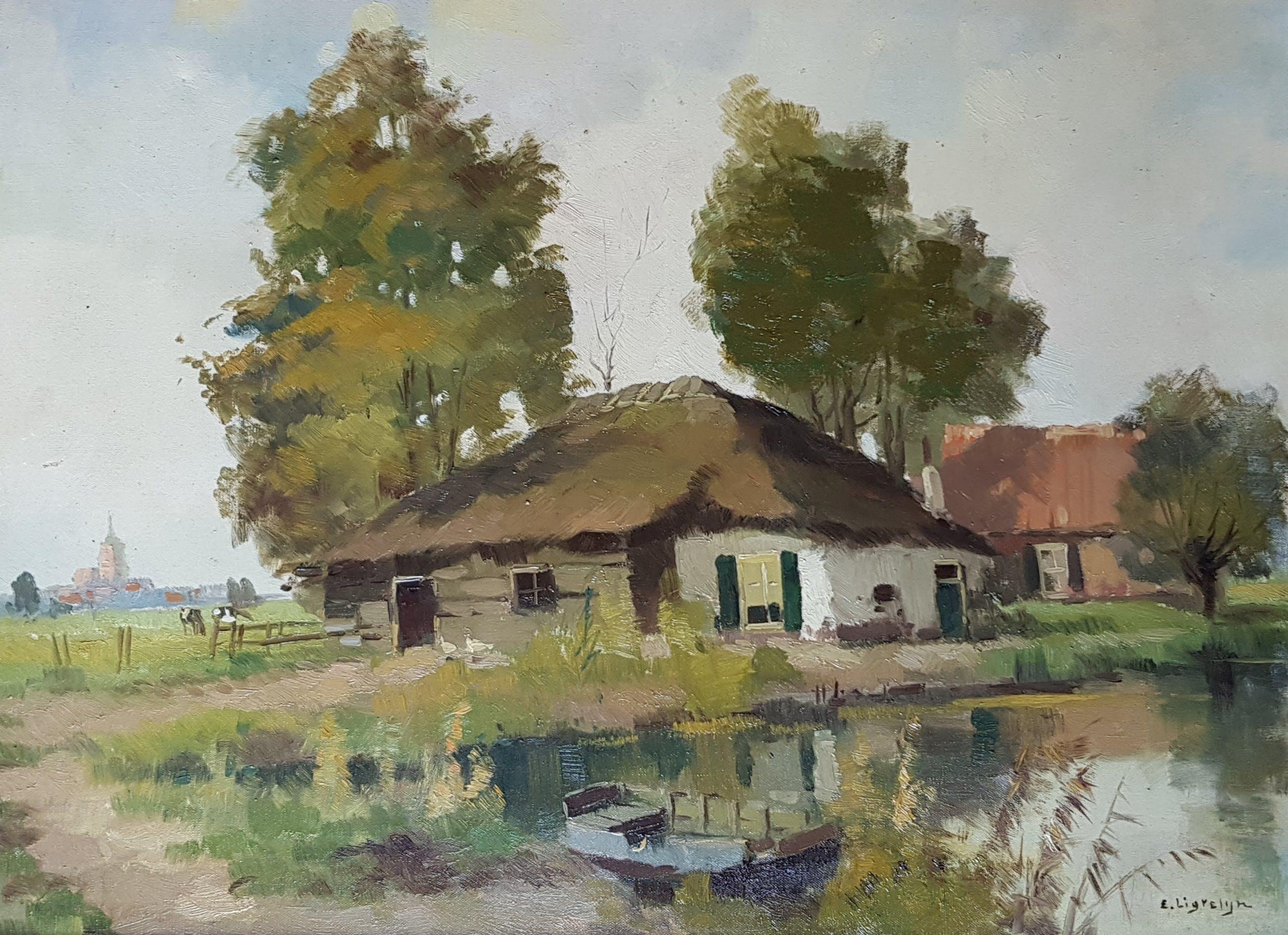Evert-Jan Ligtelijn - olie op doek, gesigneerd kopen? Bied vanaf 99!