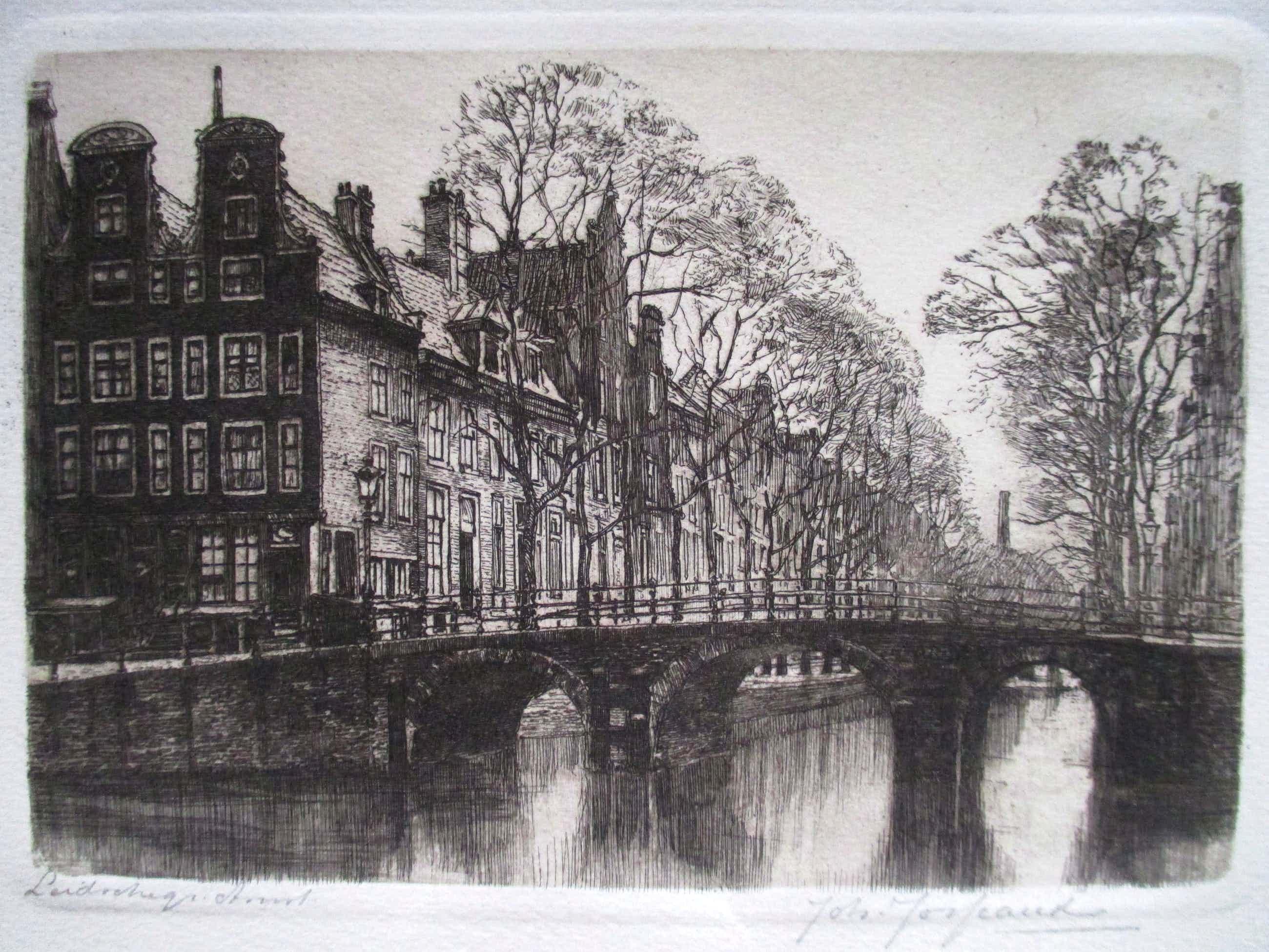 Johannes Josseaud - Ets Leidsegracht Amsterdam kopen? Bied vanaf 40!