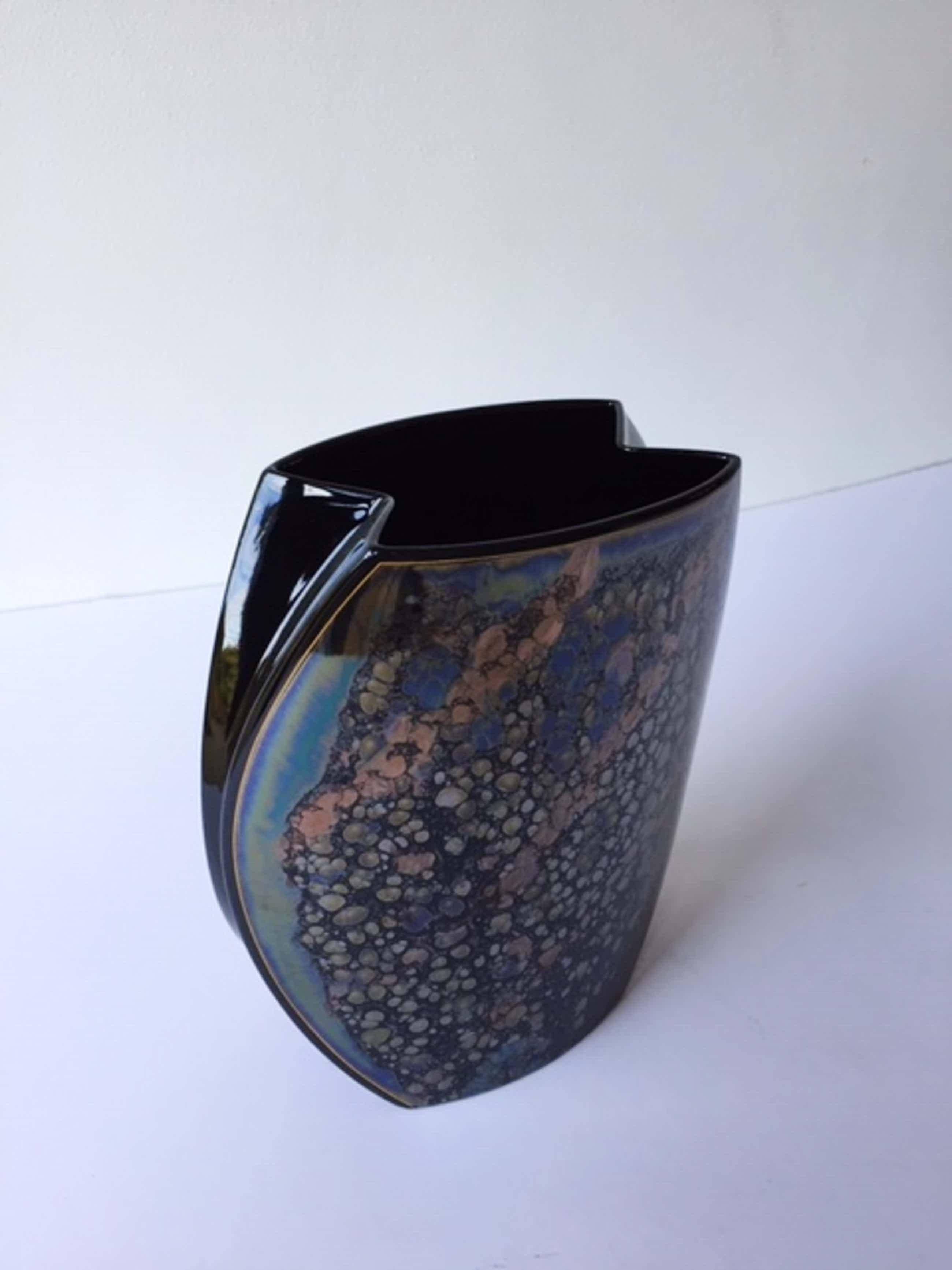 Jan van der Vaart - Taurusvaas , zwart, h 25 cm, beschilderd door H. Drexler, zeldzaam kopen? Bied vanaf 80!