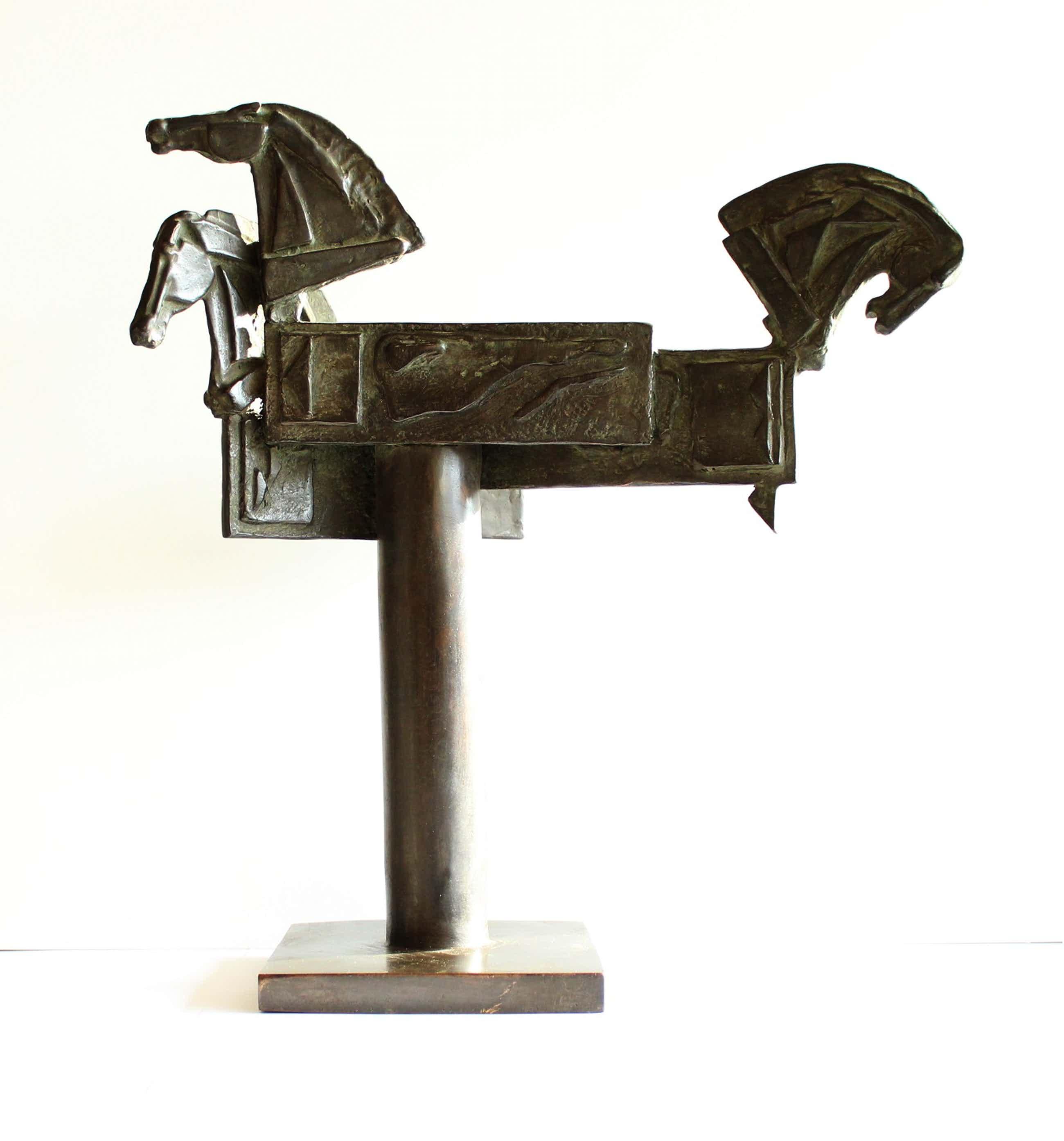 Eric Claus - Bronzen beeld Rabobank: Kijken, Denken, Doen kopen? Bied vanaf 750!