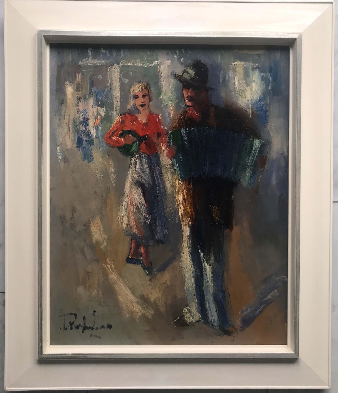 Jan Rijlaarsdam - Vrouw in rode Blouse met musicerende man kopen? Bied vanaf 959!
