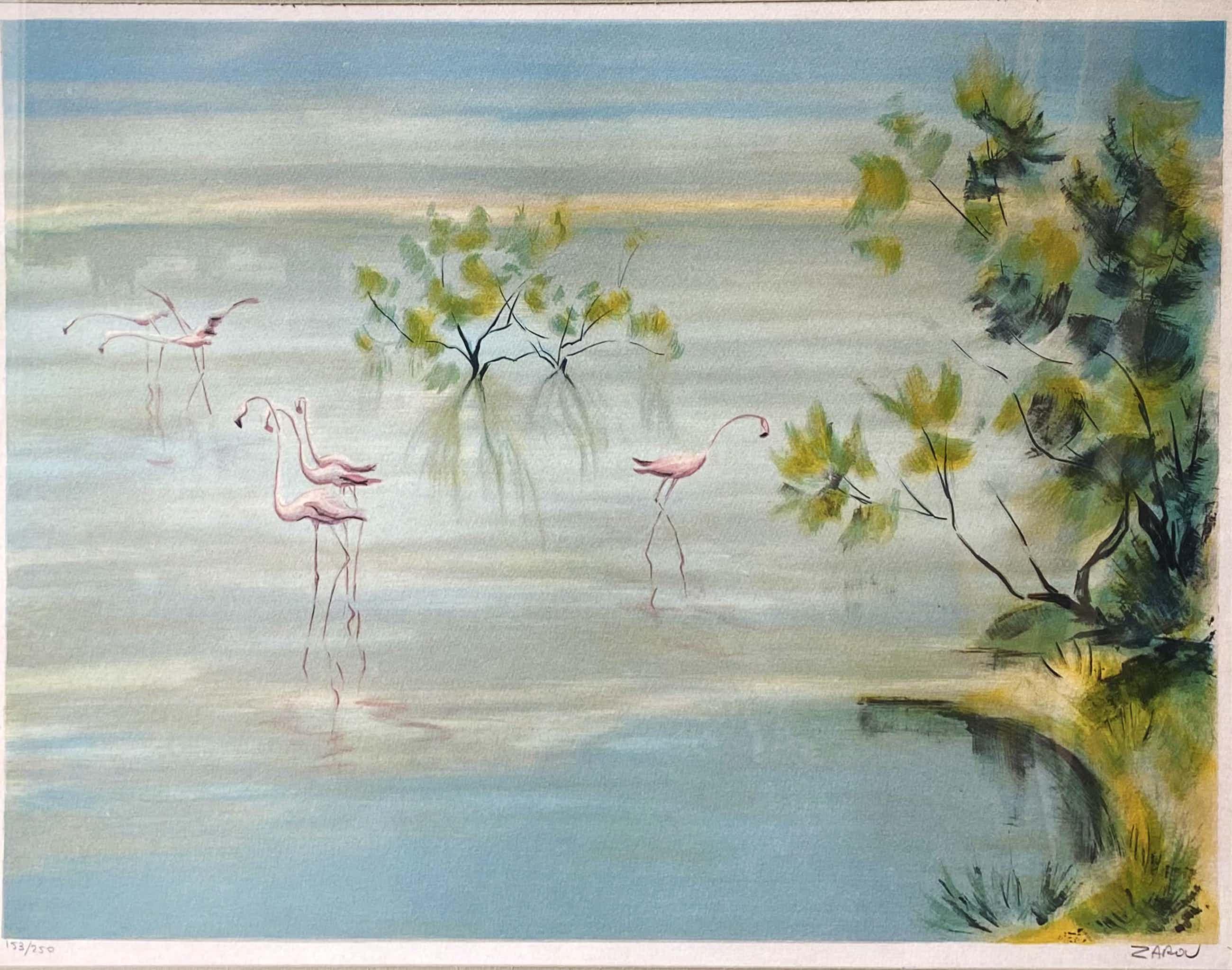 Gerard Cardella Zarou - C1863 - Les Flamants Roses kopen? Bied vanaf 25!