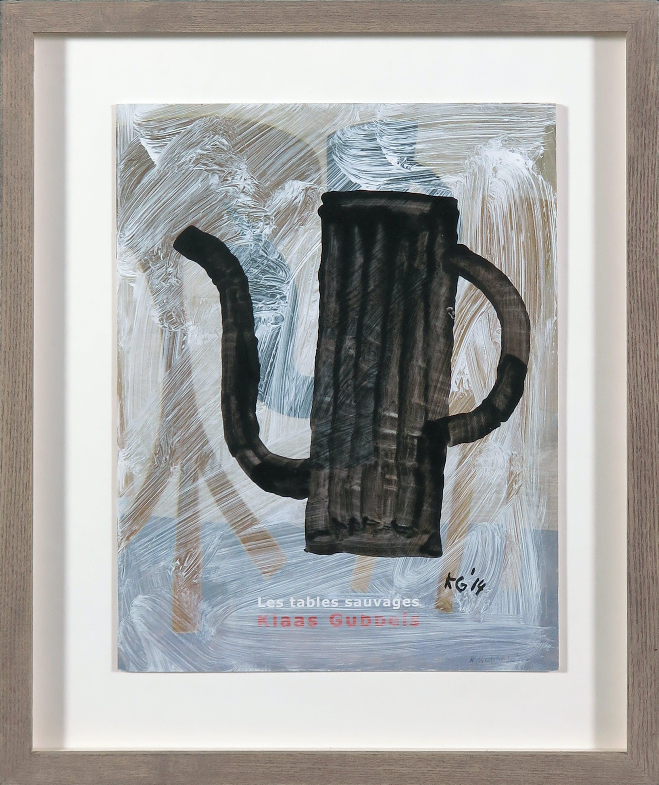 Klaas Gubbels - Olieverf op papier, Koffiekan kopen? Bied vanaf 400!