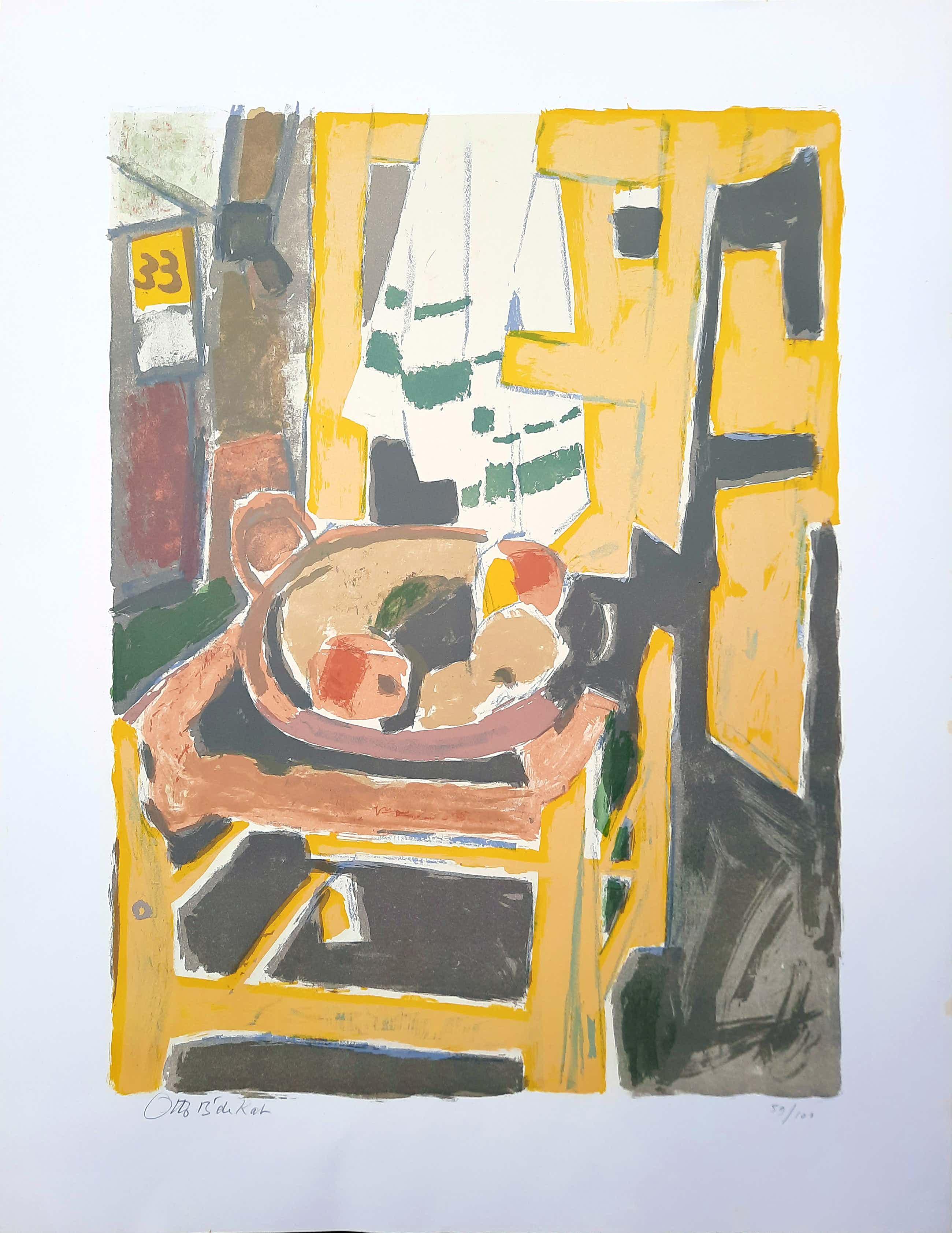Otto B. de Kat - steendruk - Het gele stoeltje 59/101 - 21527 kopen? Bied vanaf 145!