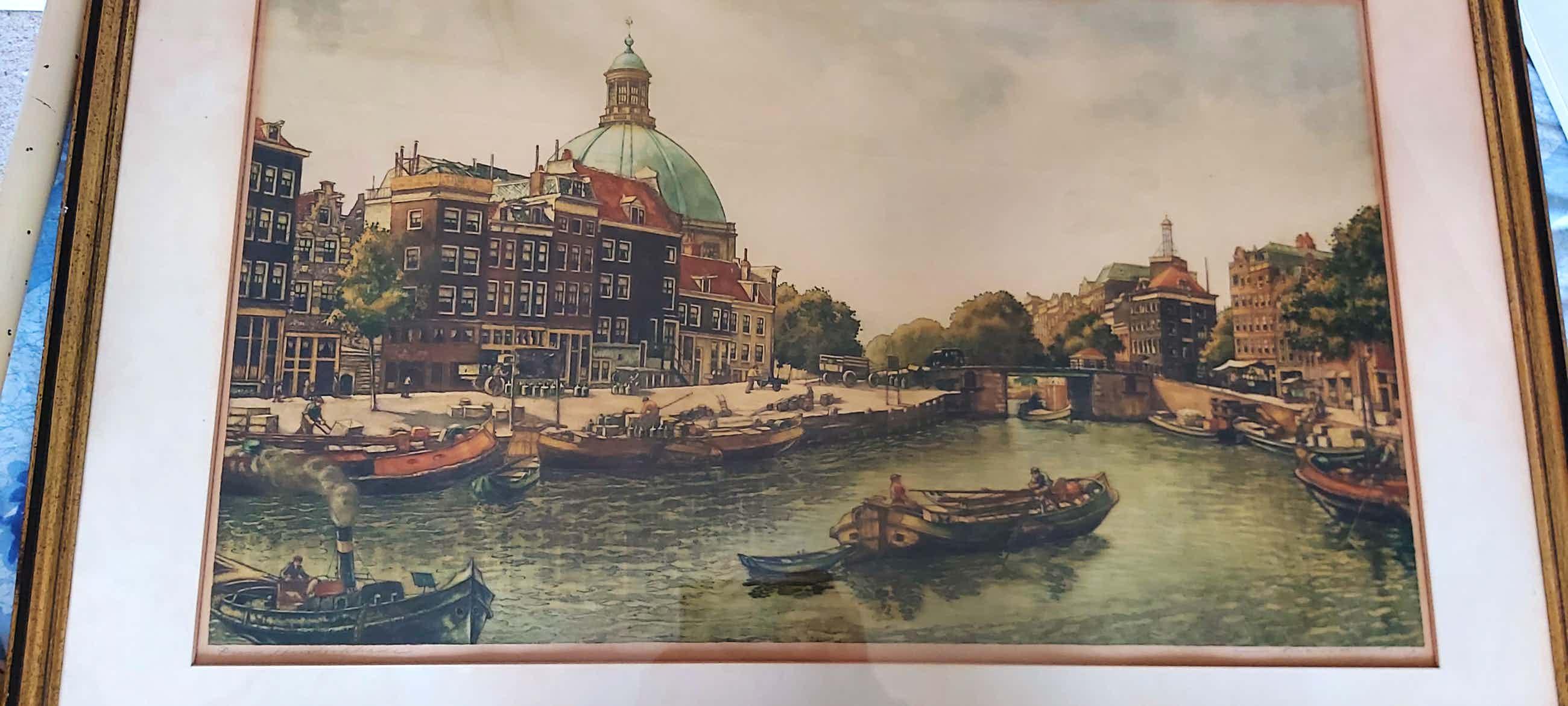 Cornelis Brandenburg - Stadsgezicht op Amsterdam kopen? Bied vanaf 80!