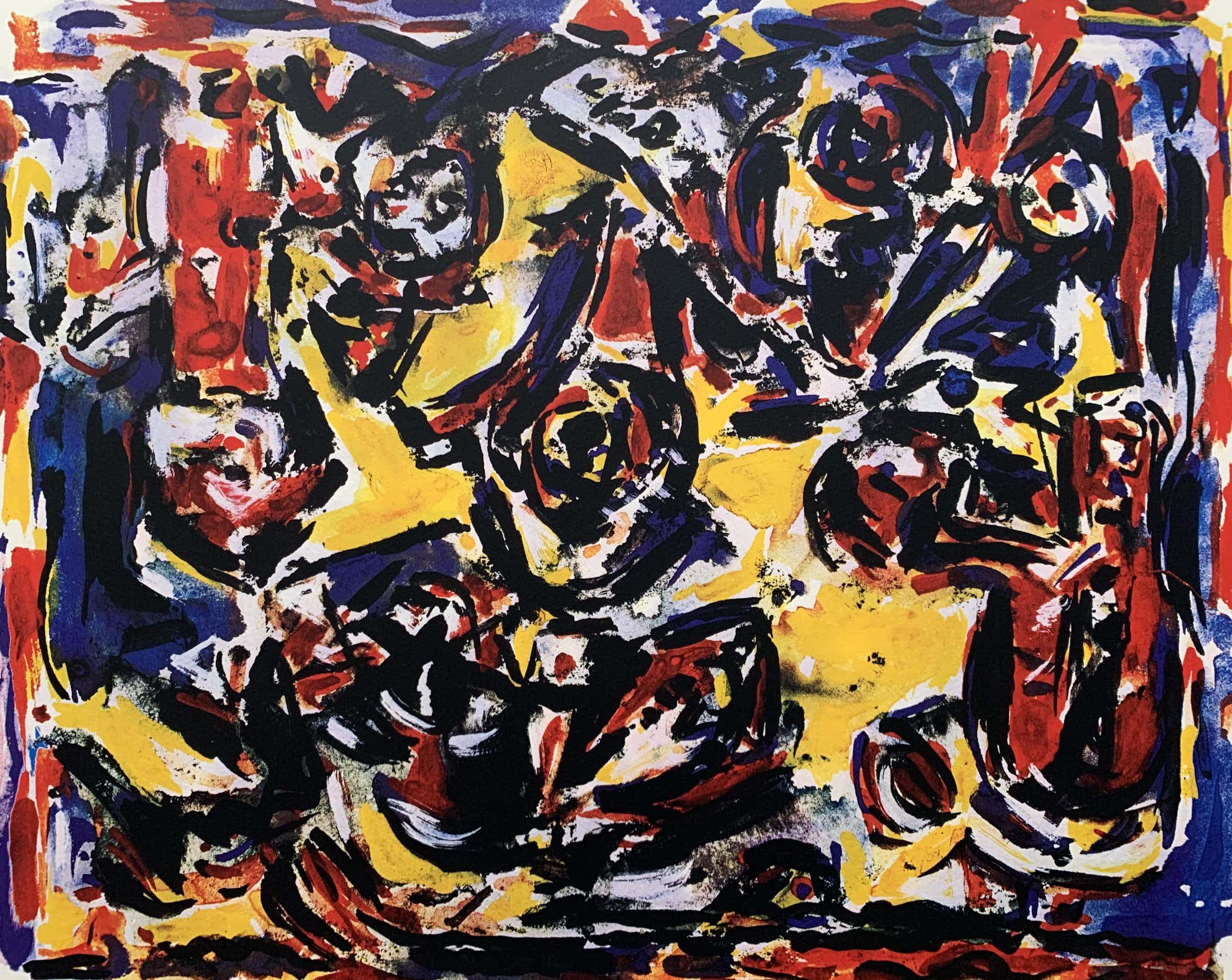 Theo Wolvecamp - kleurenzeefdruk - zonder titel - 1990 (Prachtige kleuren) kopen? Bied vanaf 275!