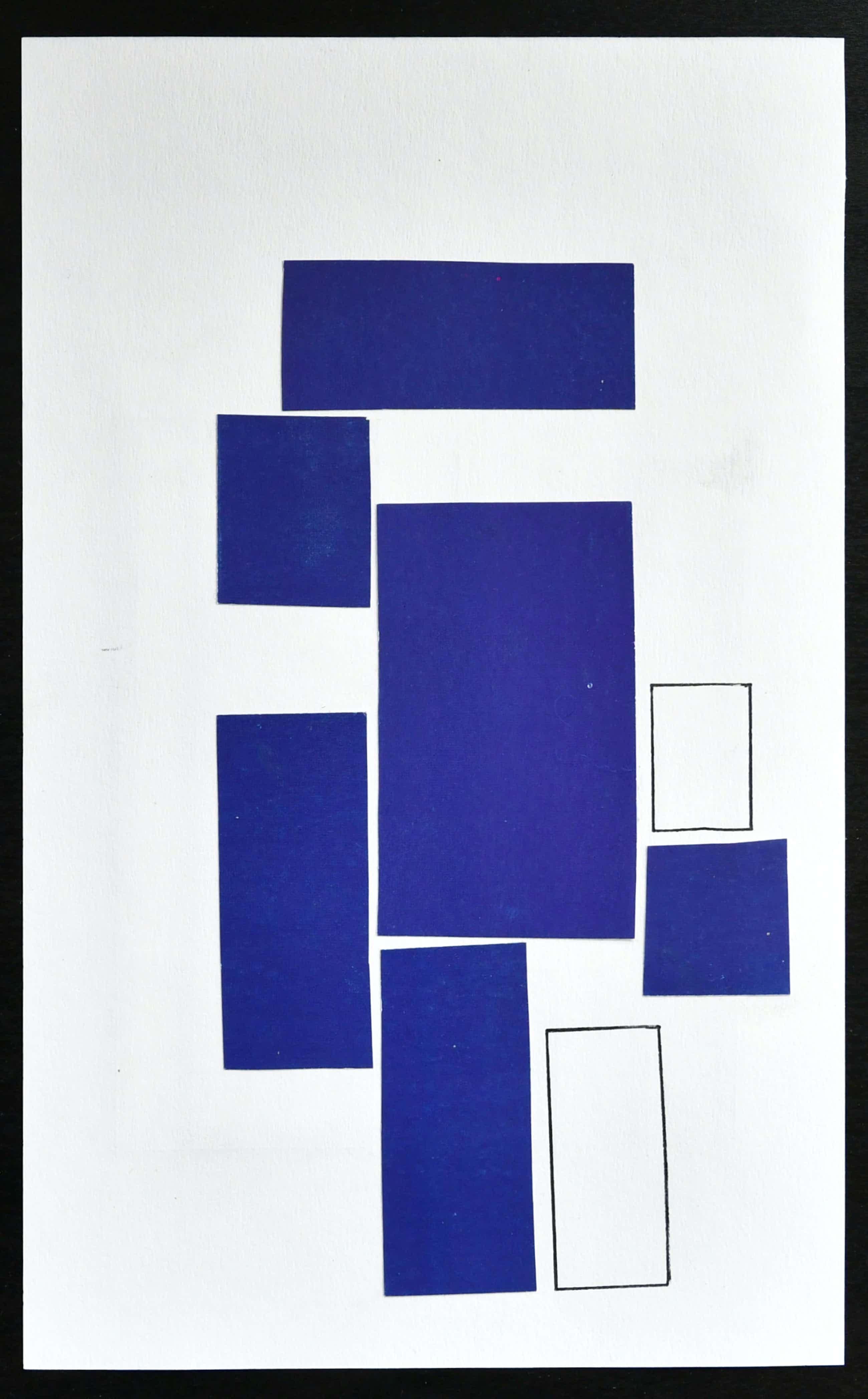 Siep van den Berg - DUBBELZIJDIGE ABSTRACTE COMPOSITIE, Collage + Pen # 1990, mint kopen? Bied vanaf 65!