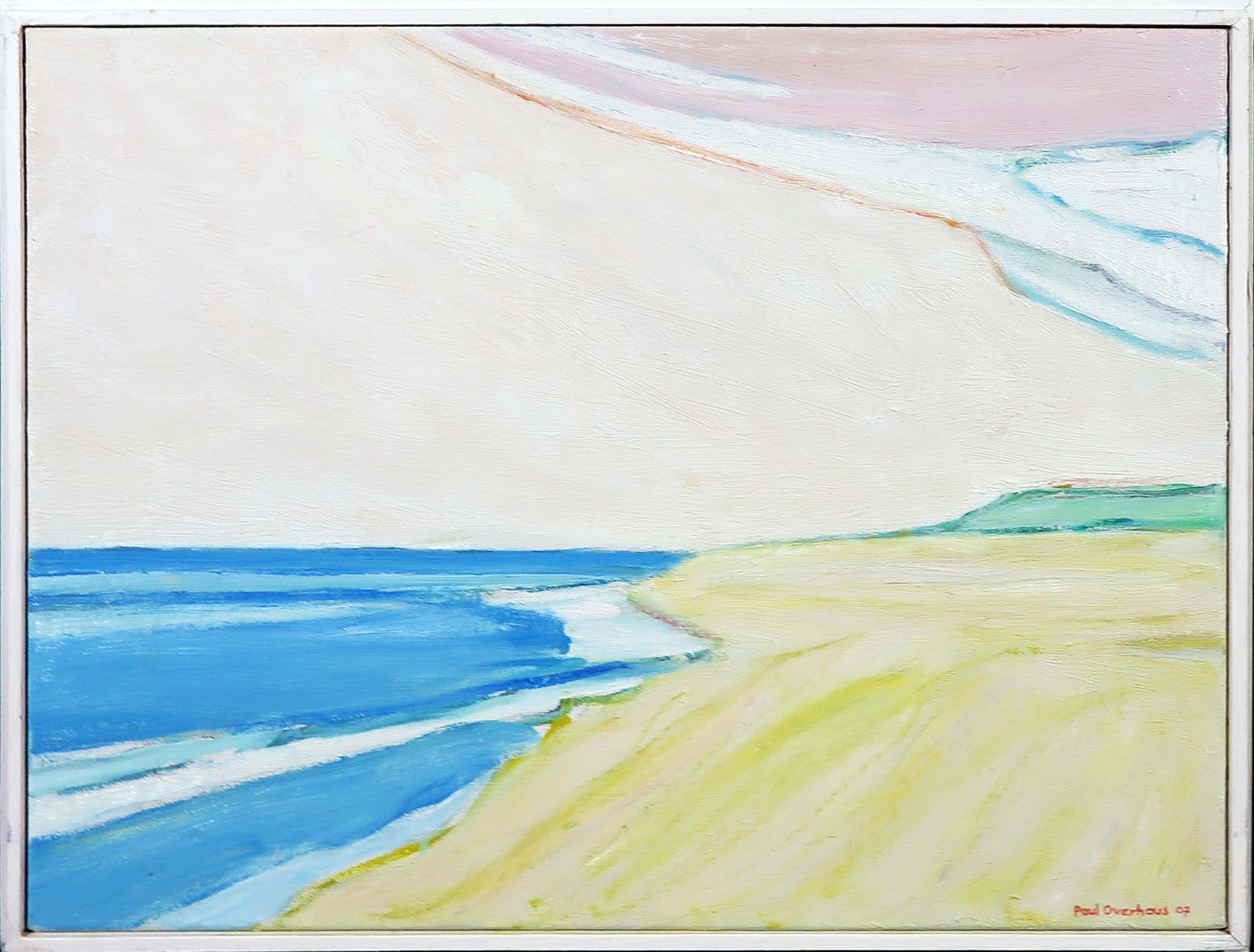 Paul Overhaus - Acryl op doek, Strandgezicht - Ingelijst kopen? Bied vanaf 150!