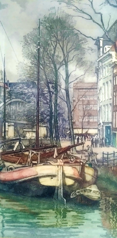 Hendrikus Roodenburg - (1895-1987), schitterende kleurenets uit 1941, van Rotterdam, gedetailleerd kopen? Bied vanaf 85!
