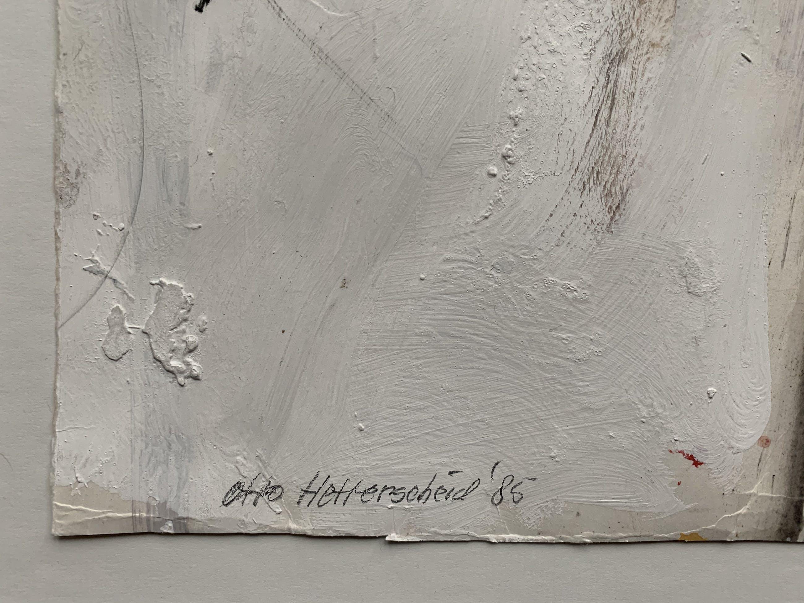 Otto Hetterscheid - gemengde techniek op papier | 'Zonder titel' | 1985 kopen? Bied vanaf 100!