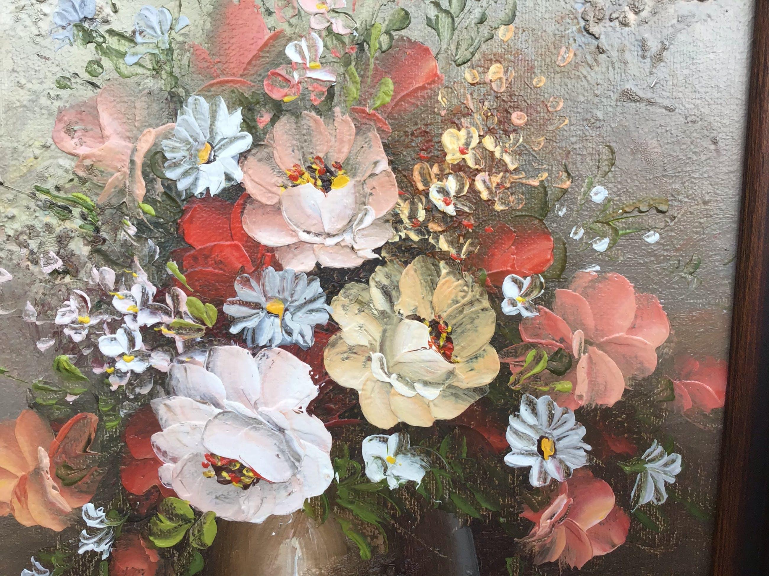 Niet of onleesbaar gesigneerd - Pot met bloemen. kopen? Bied vanaf 1!