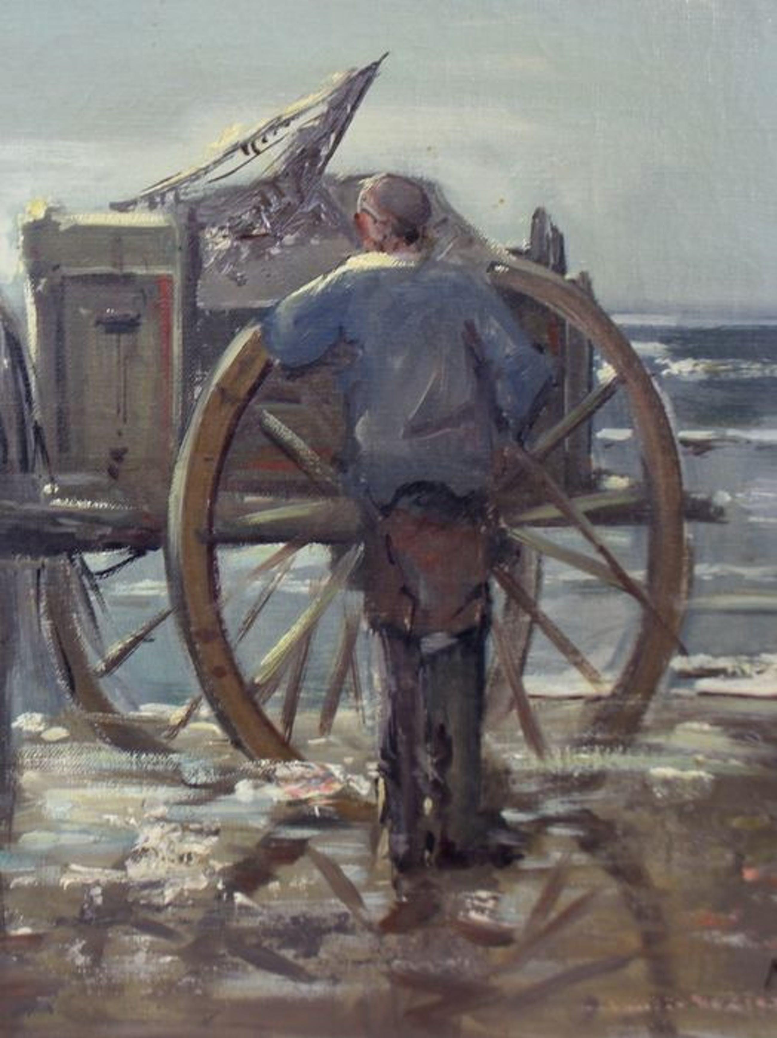 Marius van der Burg - Garnalenvisser op strand kopen? Bied vanaf 225!
