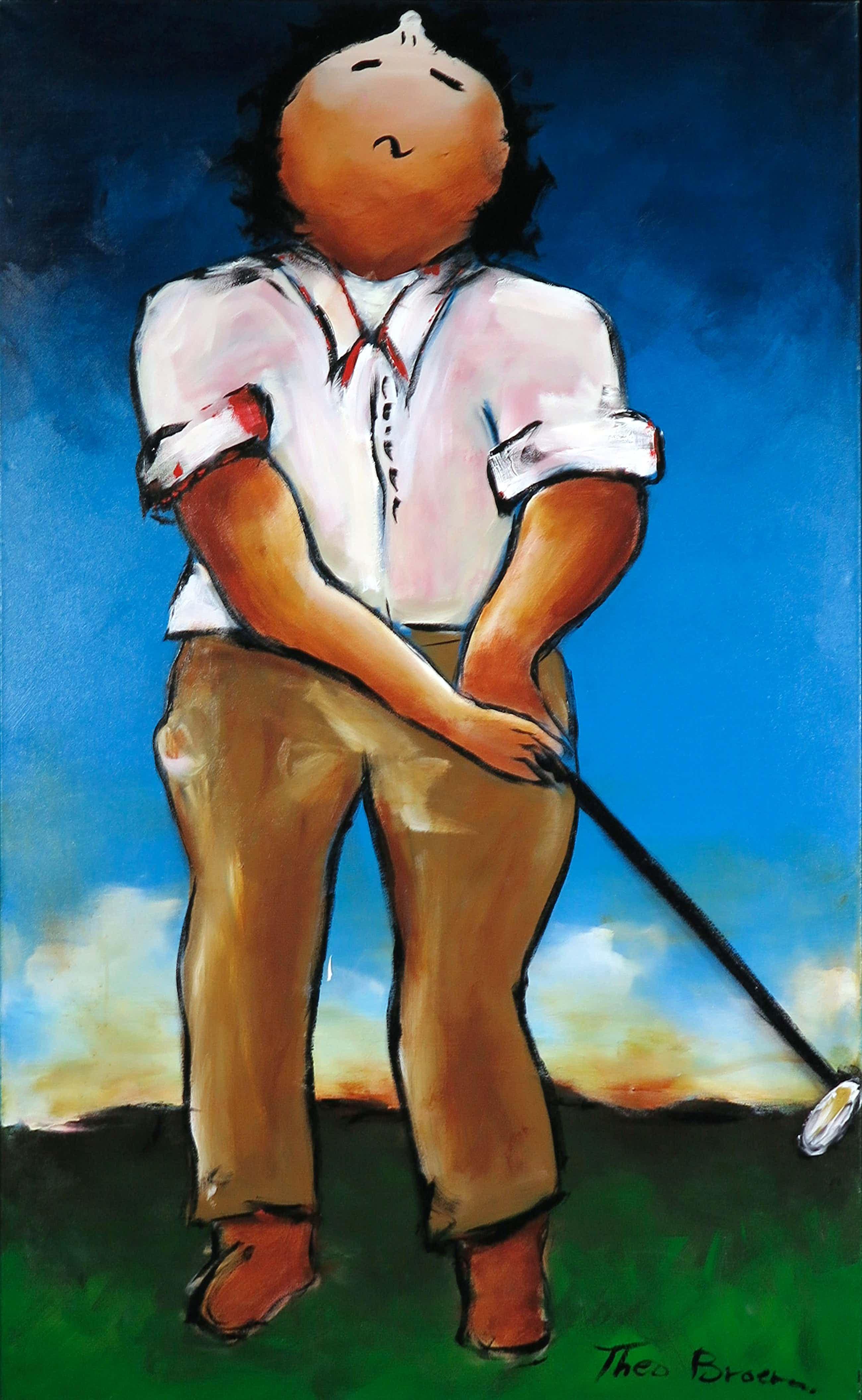 Theo Broeren - Acryl op doek, Golf 2 (Zeer Groot) kopen? Bied vanaf 110!