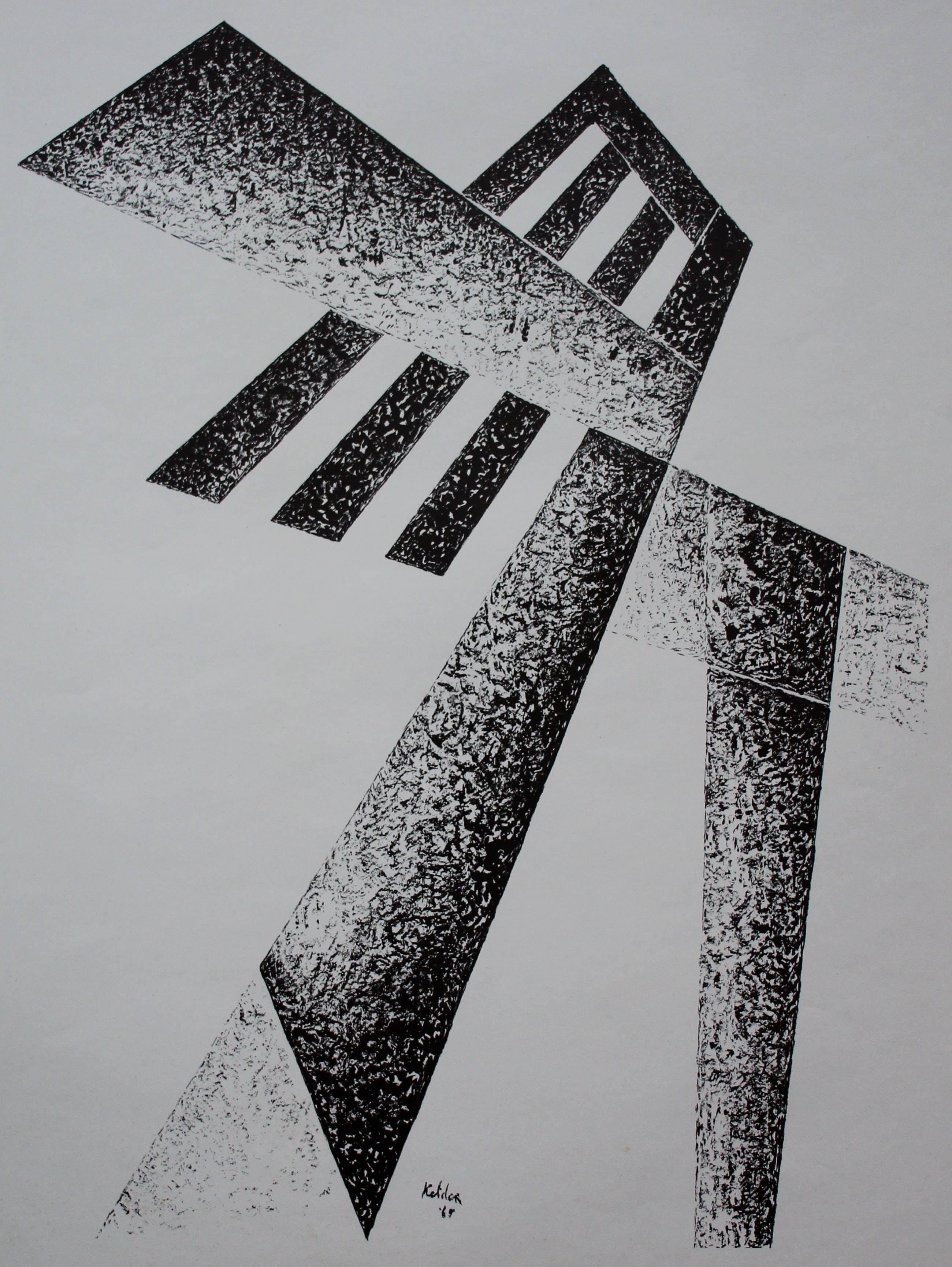 Toon Kelder - litho: Abstract - 1965 kopen? Bied vanaf 45!
