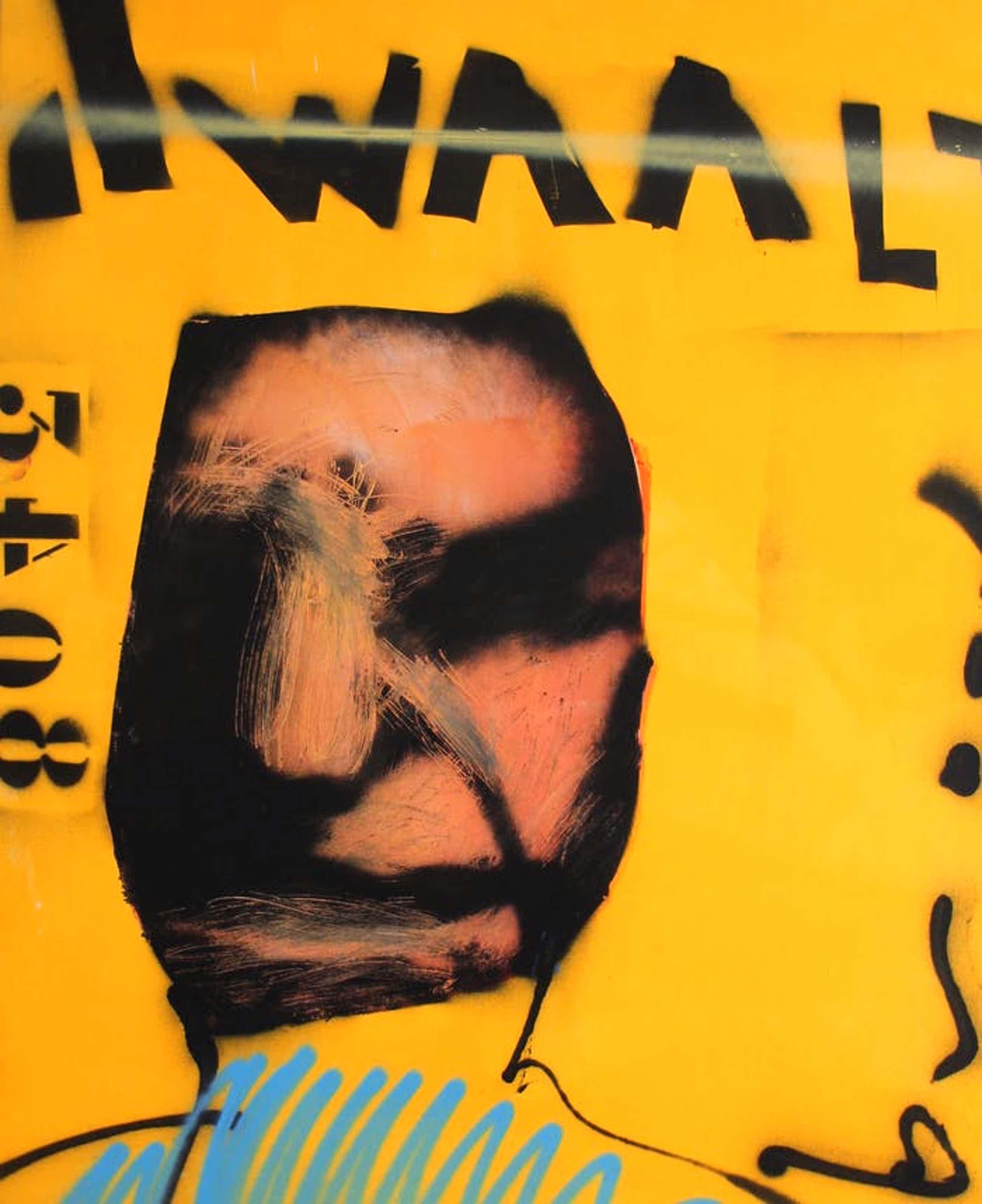 Herman Brood - acryl/spuitbus op doek: Dwaalt - 1996 kopen? Bied vanaf 4500!