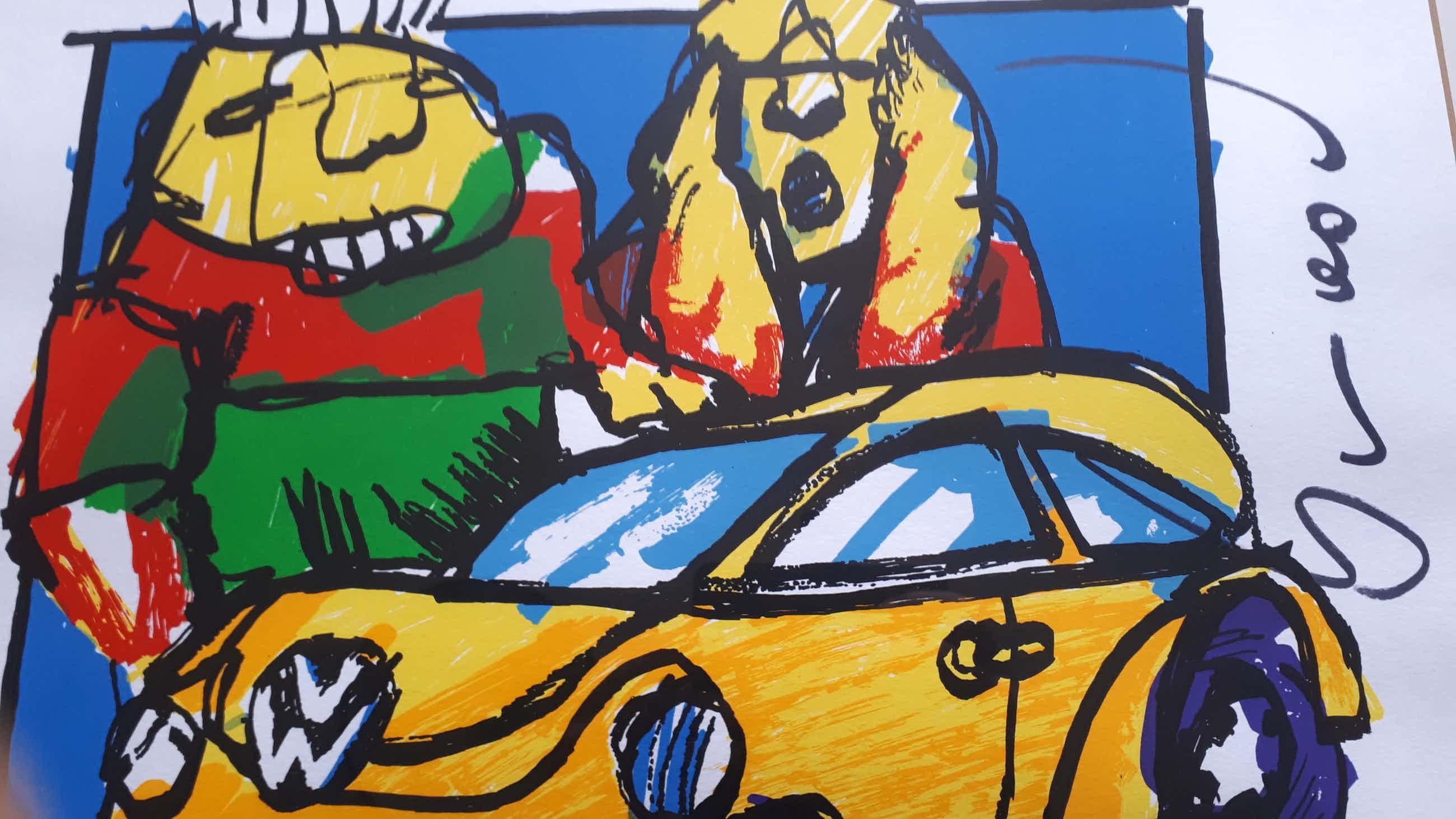 Herman Brood - VW Beetle - ZGAN - Ingelijst kopen? Bied vanaf 150!