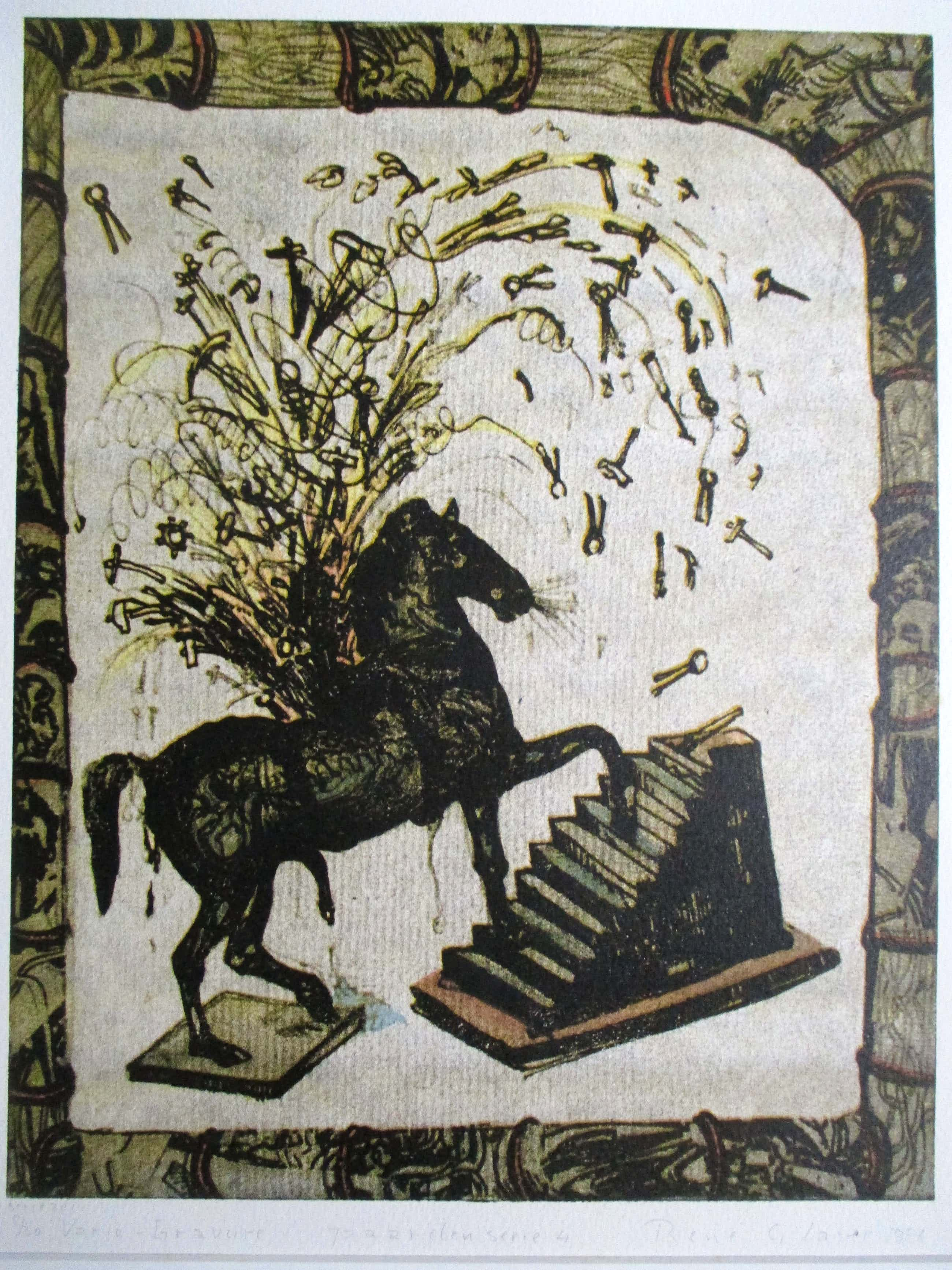 Rene Glaser - Vario-gravure Paardenserie 4 kopen? Bied vanaf 25!