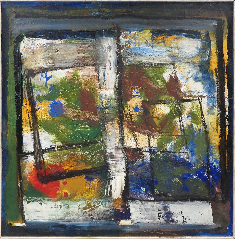 Frans Nicolai - Olieverf op doek, Abstracte compositie - Ingelijst (Zeer groot) kopen? Bied vanaf 150!