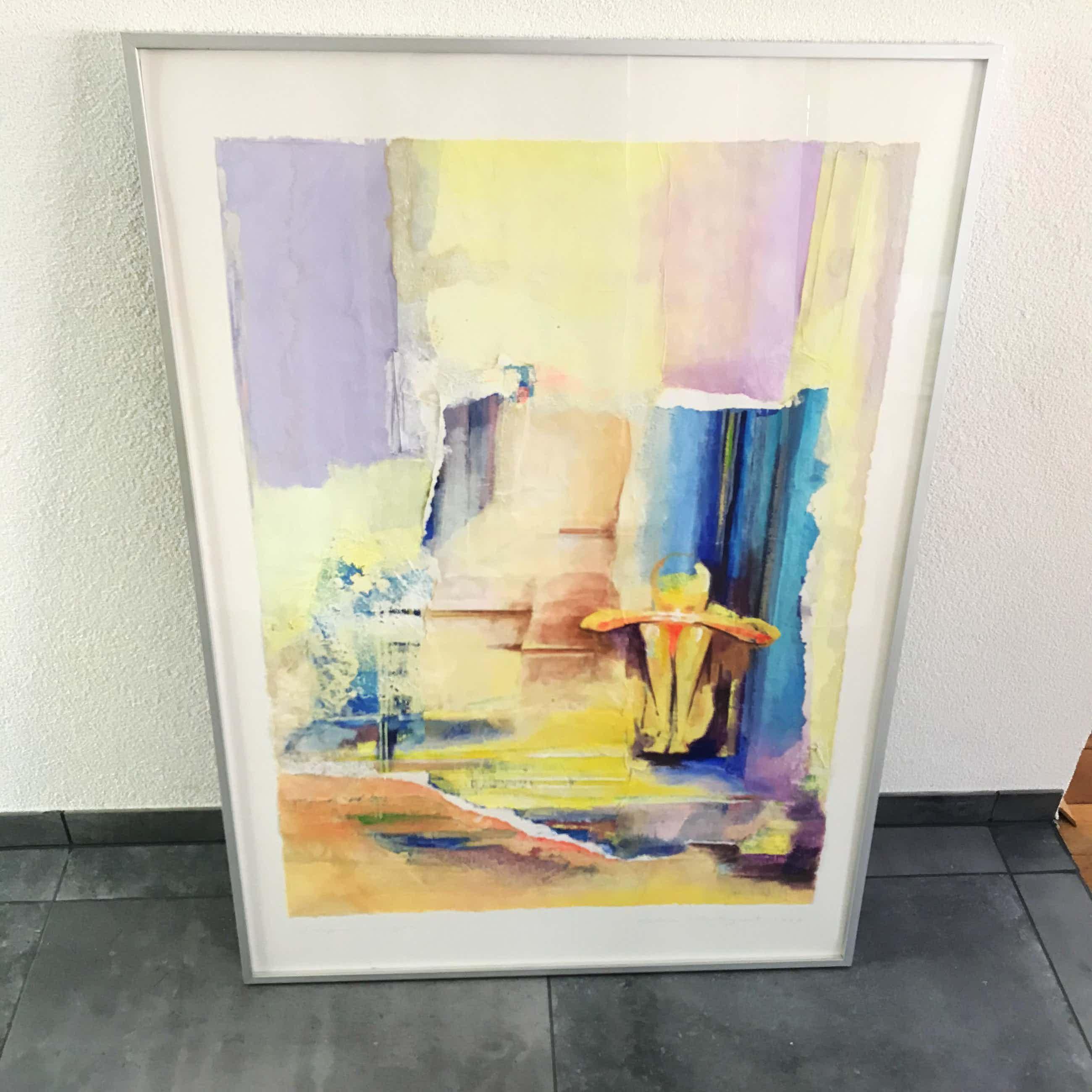 Helen Westgeest - Gemengde techniek op papier, Overpeinzingen - Ingelijst (Groot) kopen? Bied vanaf 75!
