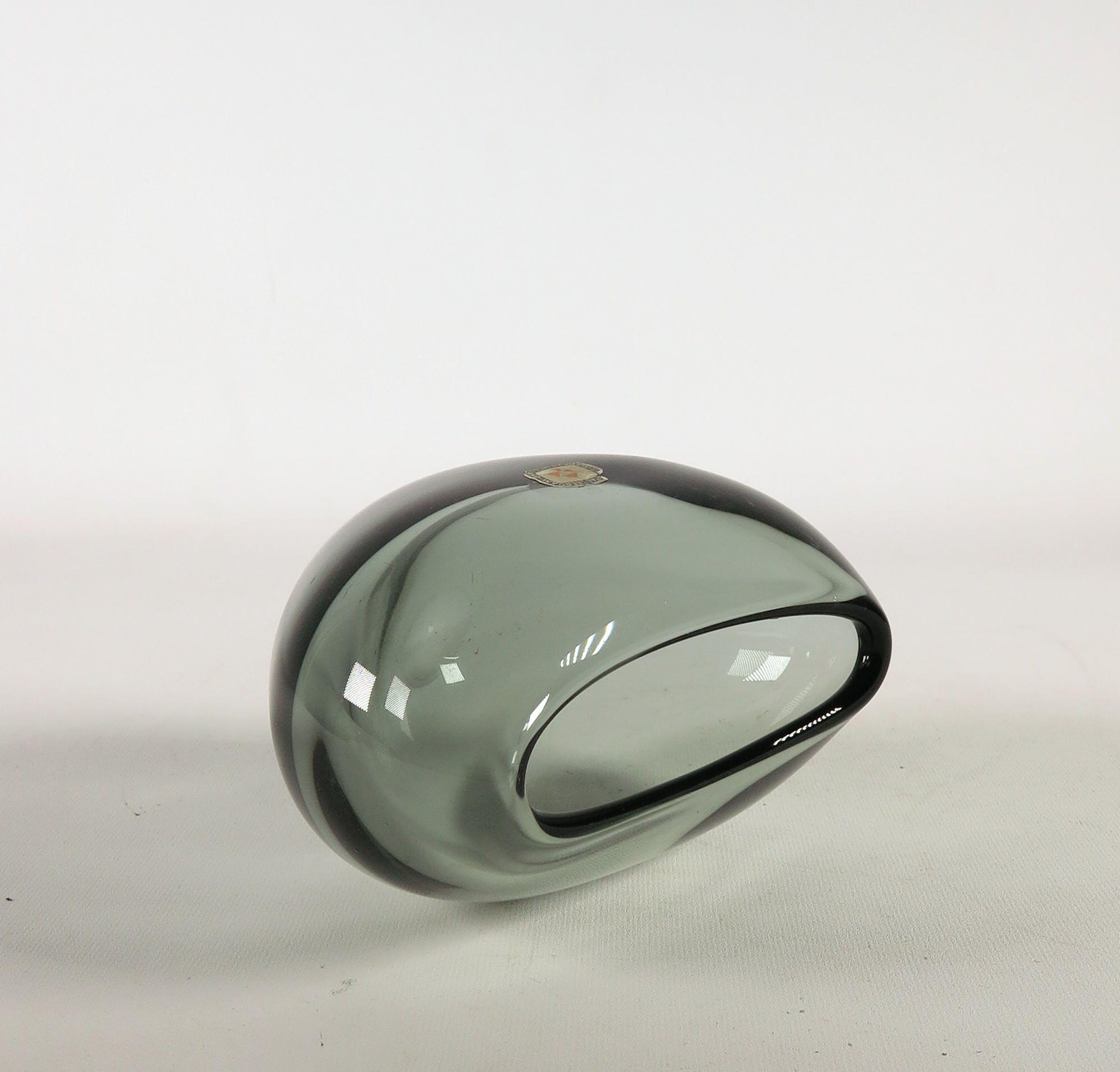 Floris Meydam - Glas, Staalblauw vaasje door Glasfabriek Leerdam kopen? Bied vanaf 1!