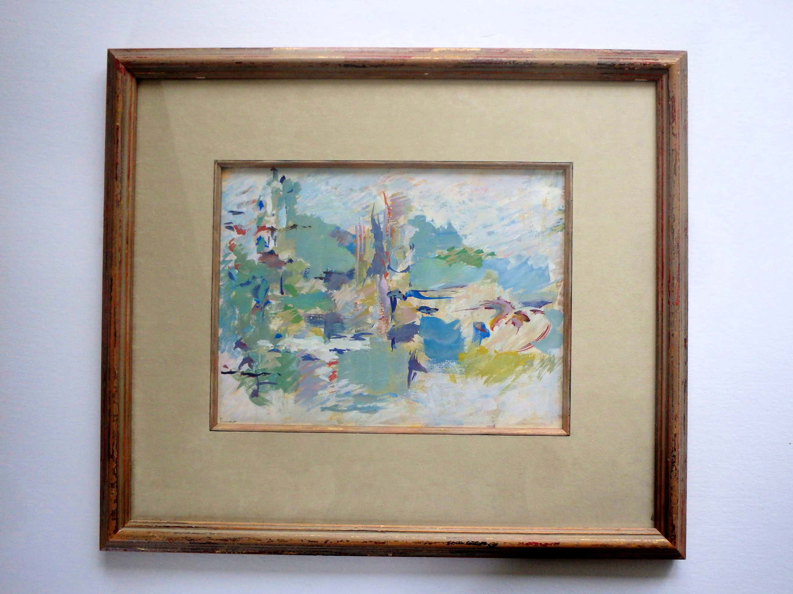 Anton Voorzanger - abstracte compositie kopen? Bied vanaf 120!