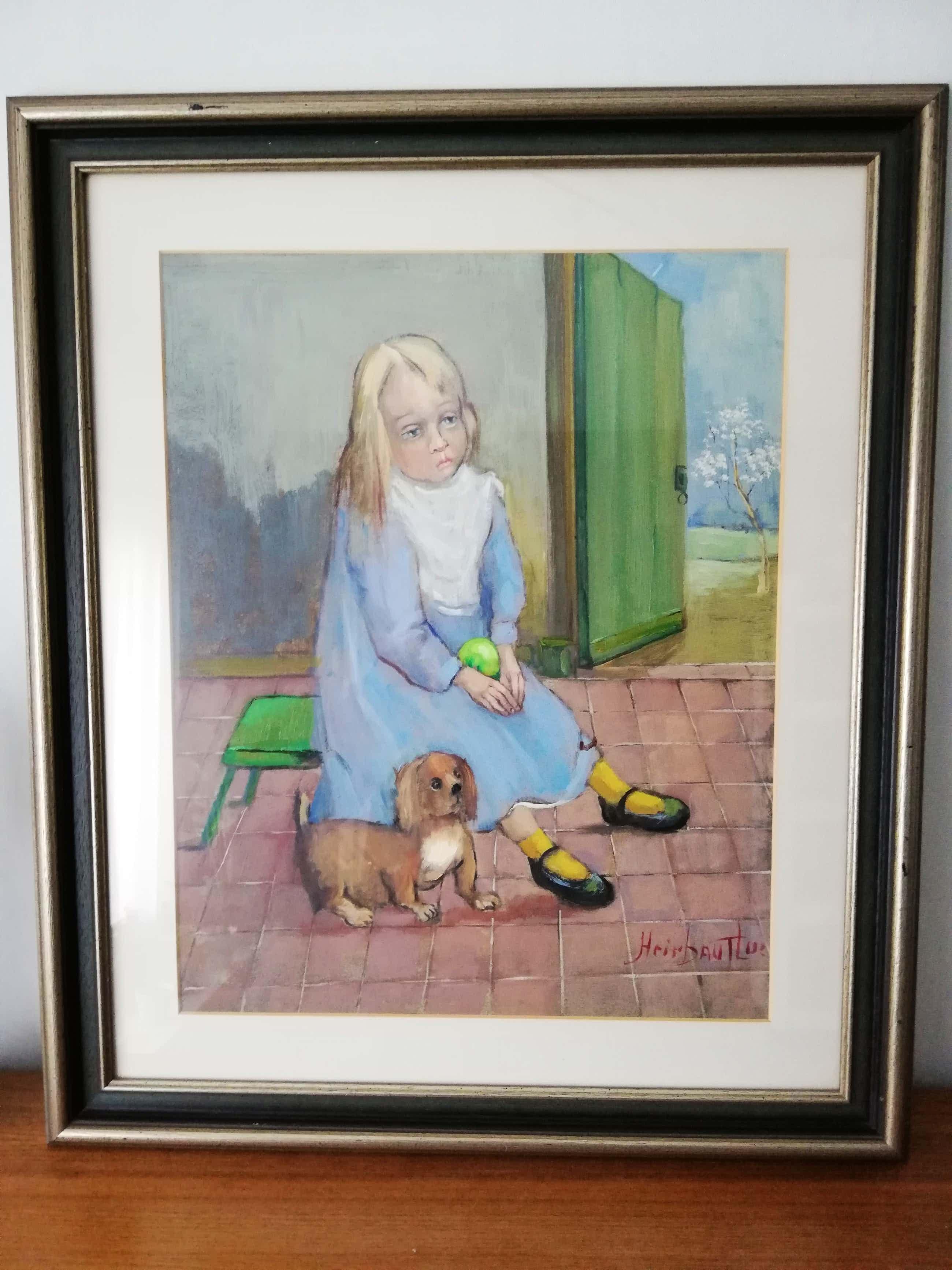 Luc Heirbaut - Meisje met hond kopen? Bied vanaf 75!