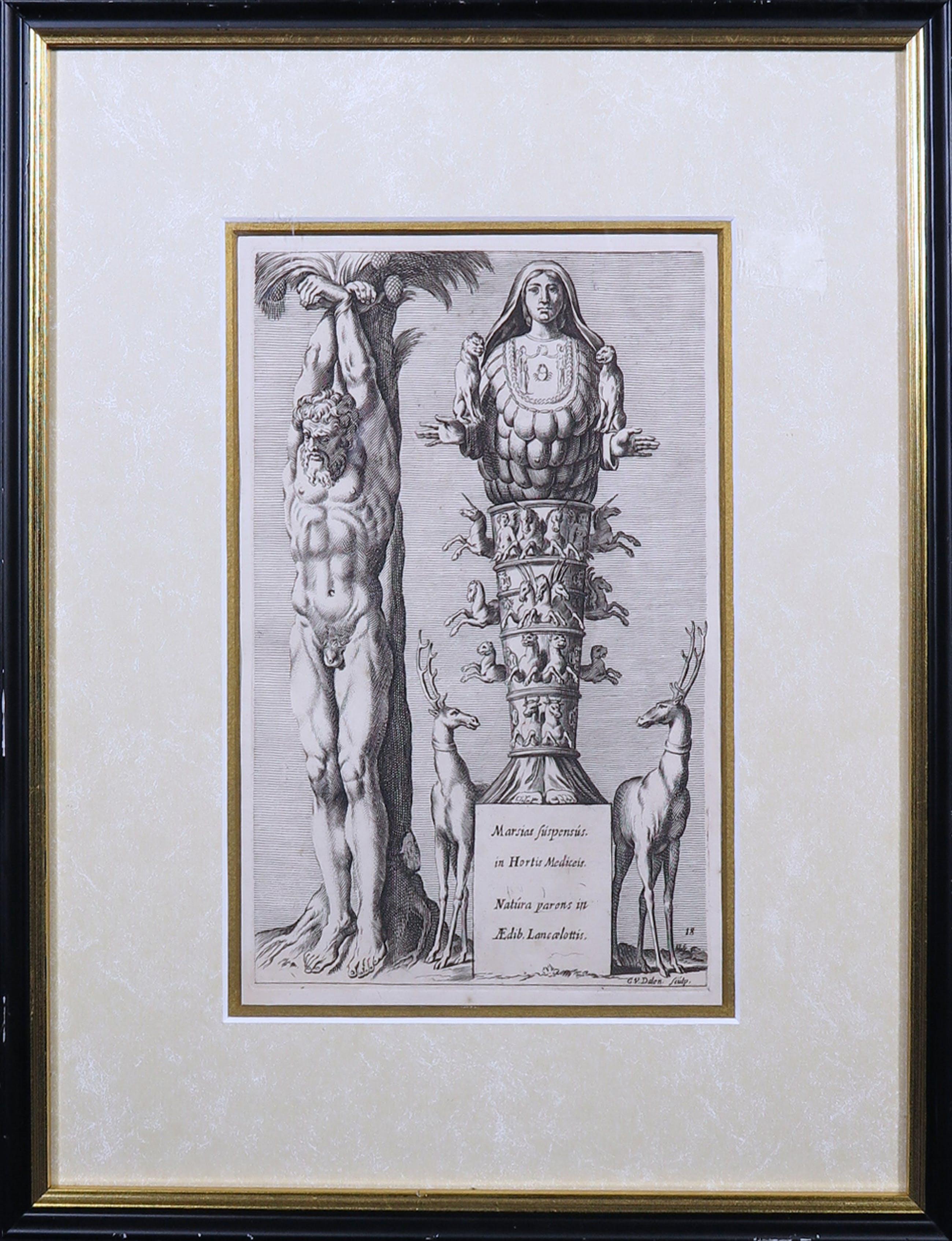Cornelis van Dalen - Kopergravure, Beelden binnen Rome - Ingelijst kopen? Bied vanaf 1!
