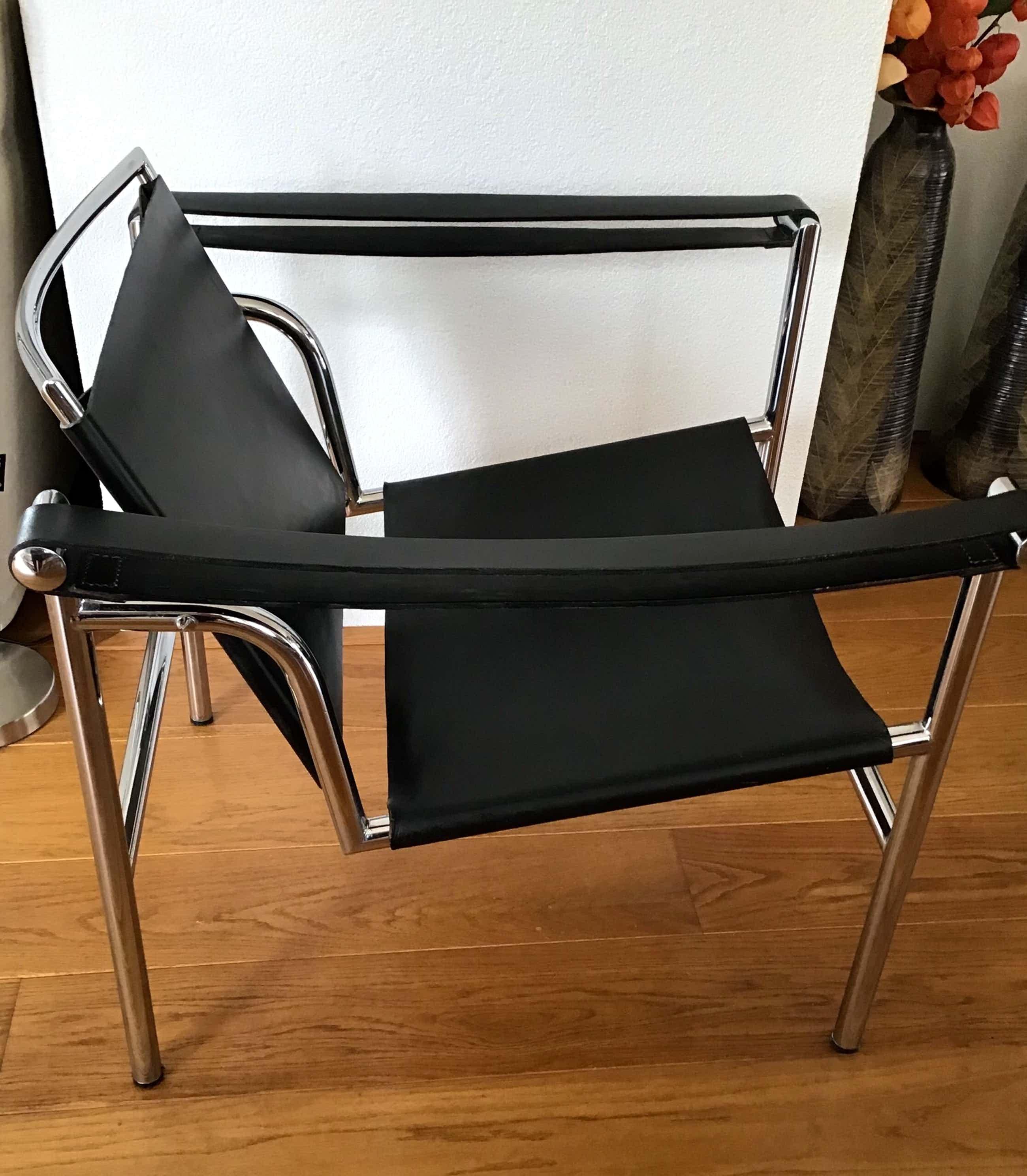Le Corbusier - naar ,Fauteuil LC1 chroom met zwart leder kopen? Bied vanaf 380!