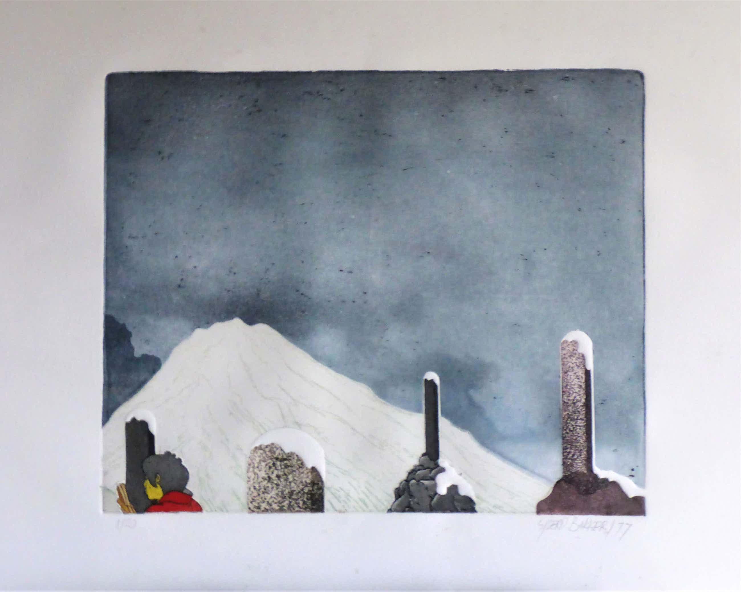Sjoerd Bakker - Vrouw met berg en monumenten kopen? Bied vanaf 45!