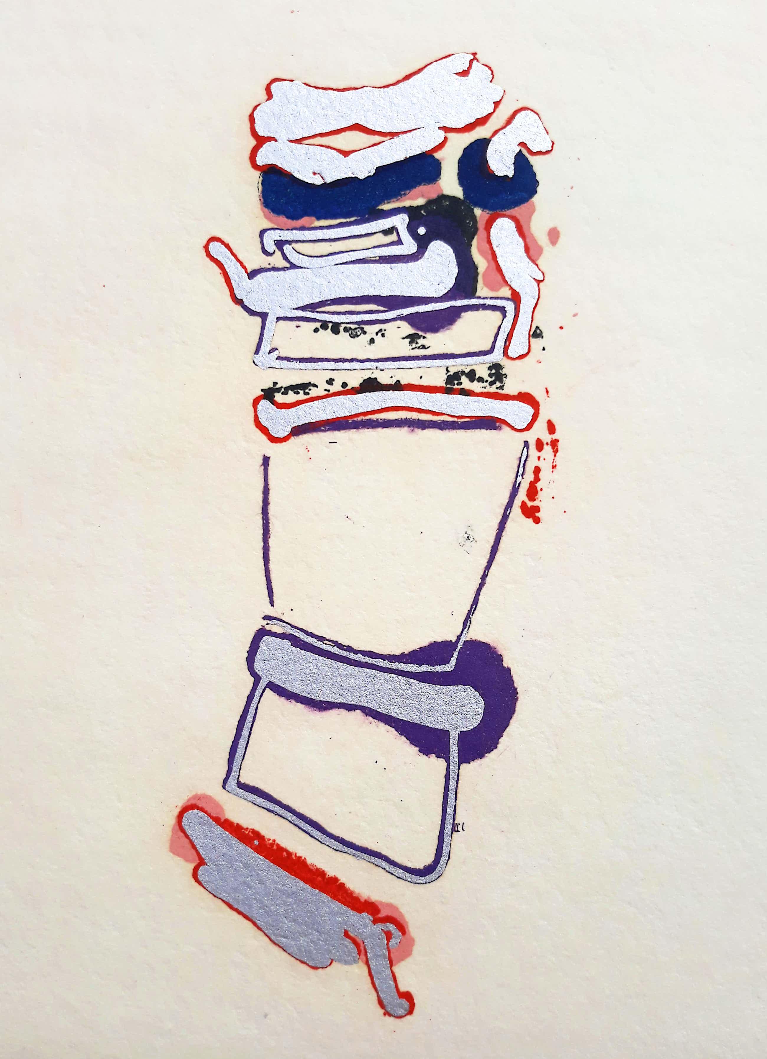 John Chamberlain - Abstracte compositie, aquatint ets kopen? Bied vanaf 250!