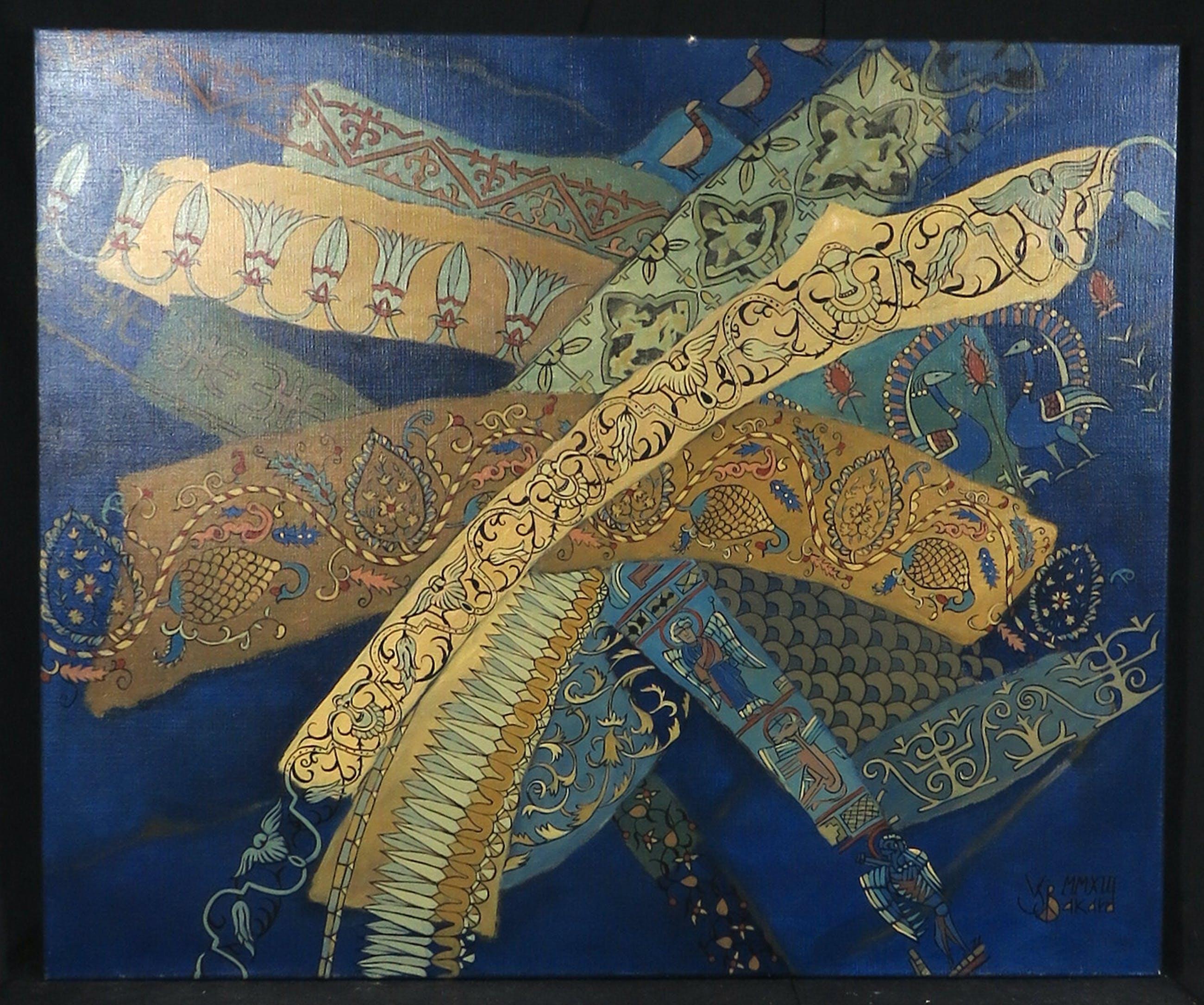 Valentin Bakardjiev - Olieverf op doek, Wild carpet III, (Groot) kopen? Bied vanaf 1!