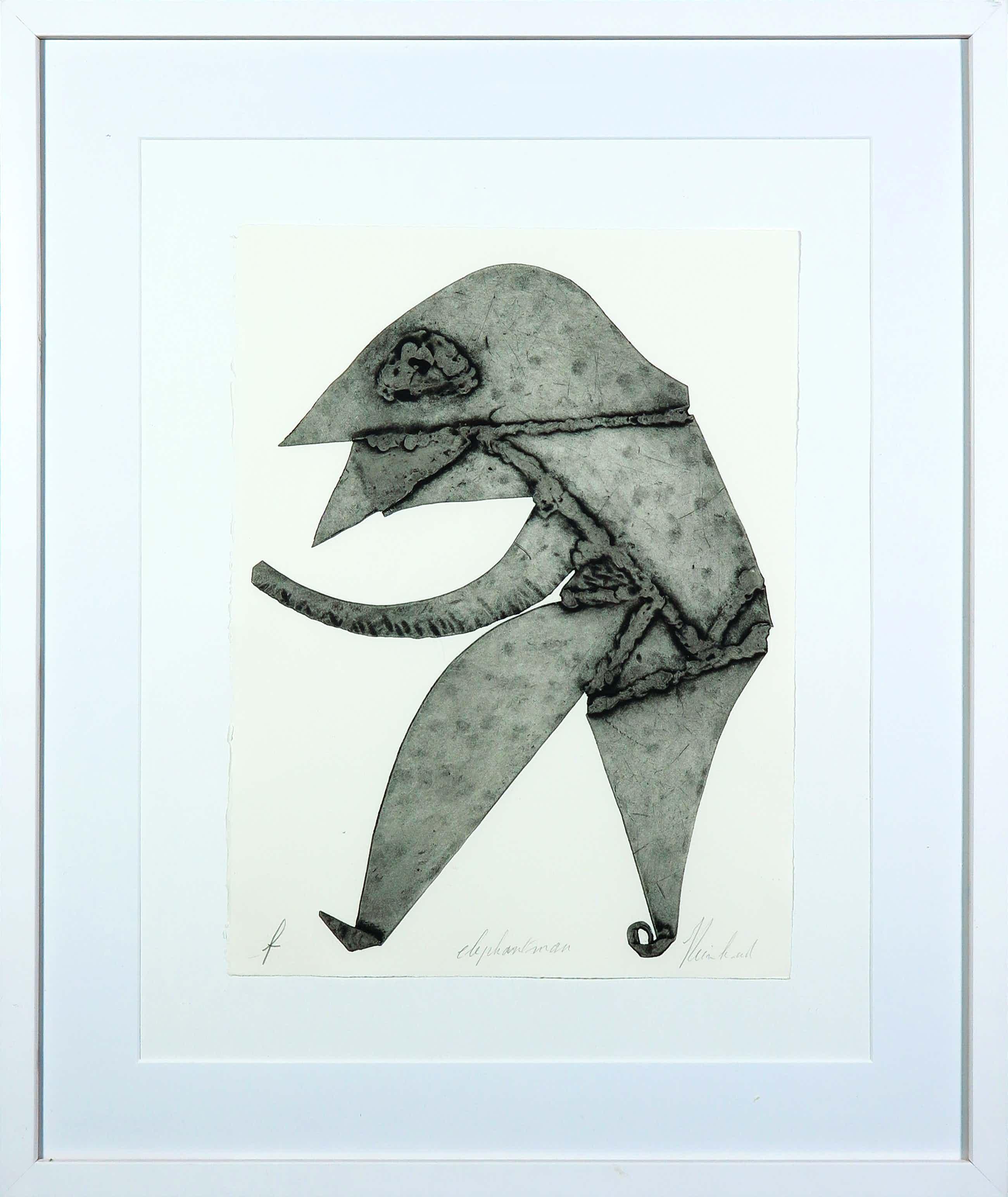 Reinhoud D'Haese - Aquatint metaaldruk, Elephantman - Ingelijst kopen? Bied vanaf 150!