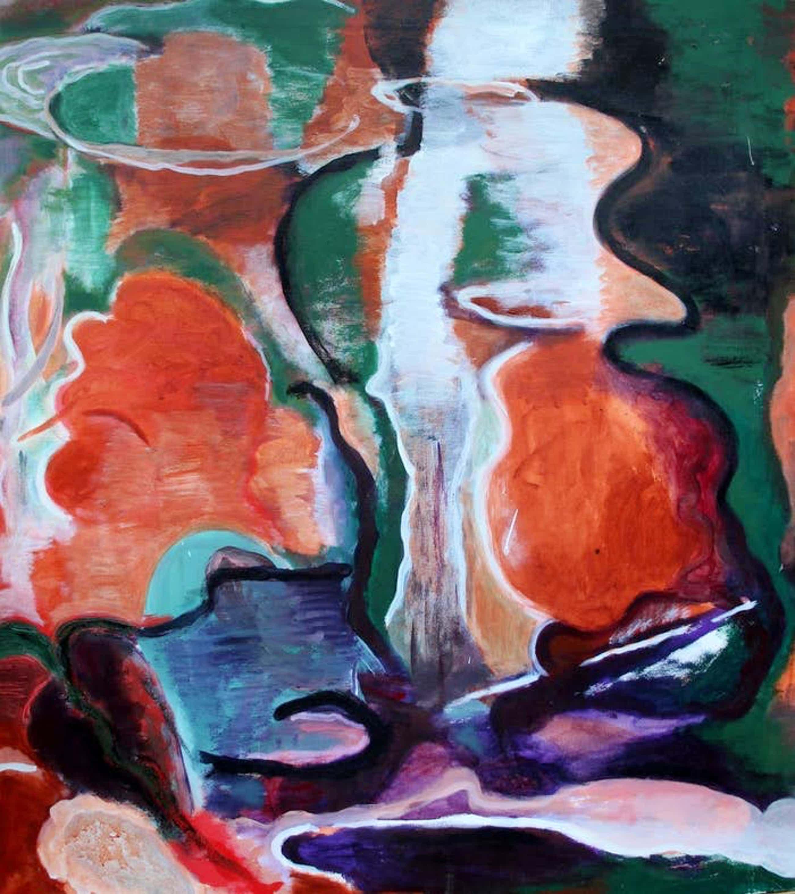 Jacques van Erven - abstract schilderij - 1989 kopen? Bied vanaf 199!