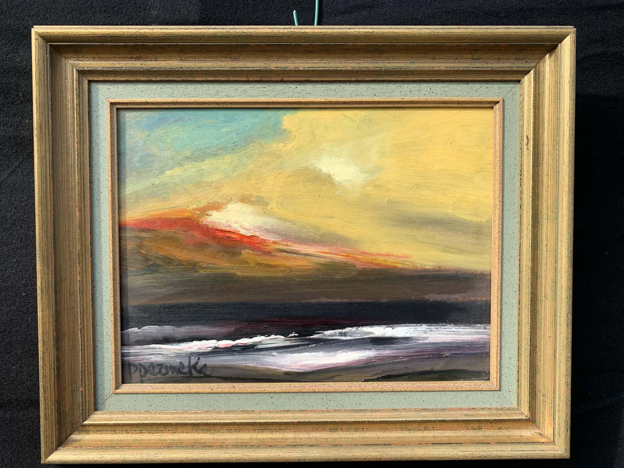 Paul Permeke - Olieverf schilderij: onweer over zee kopen? Bied vanaf 291!