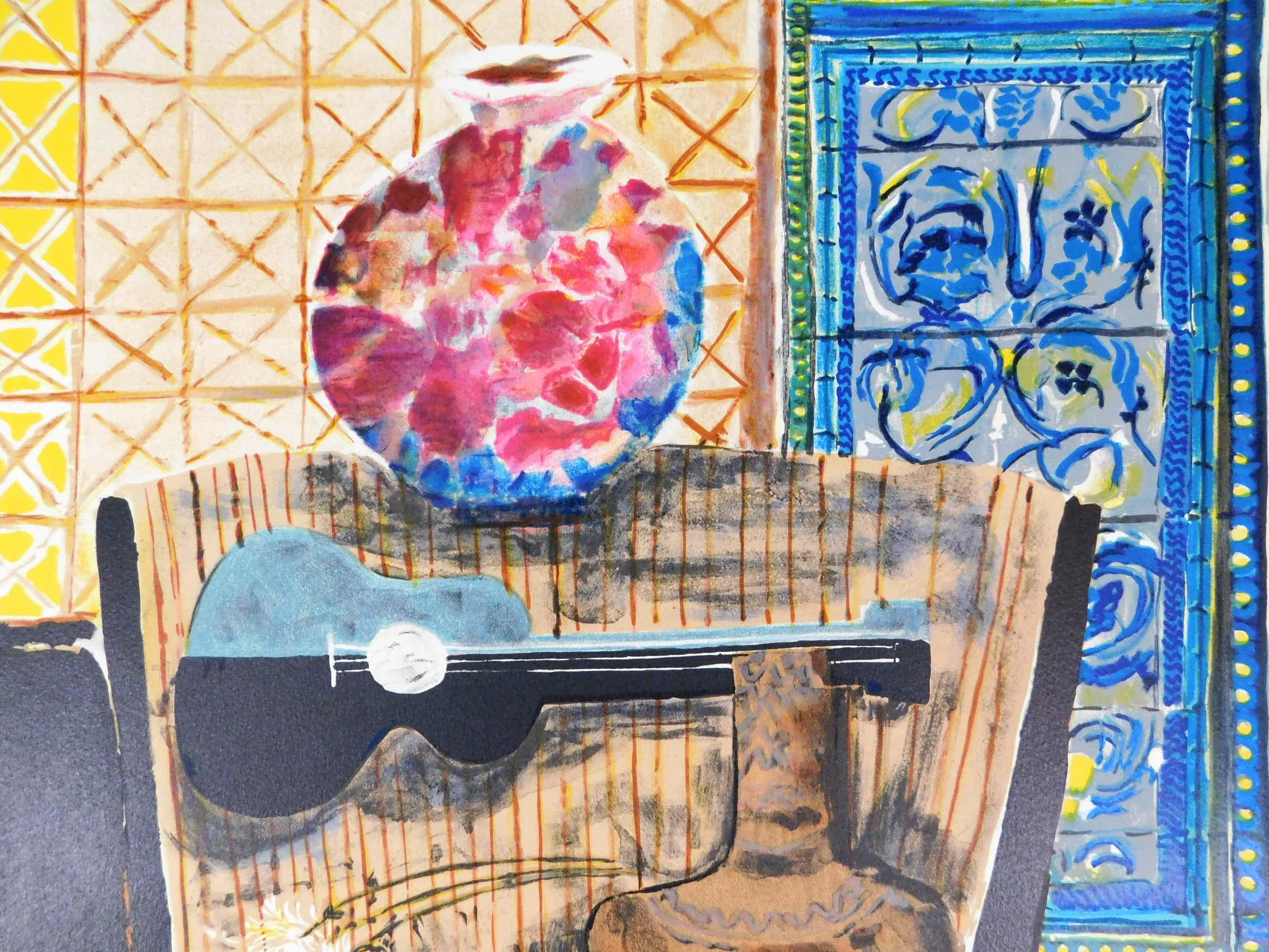 Wendy Chazin - Composition with Guitar and Vase kopen? Bied vanaf 23!