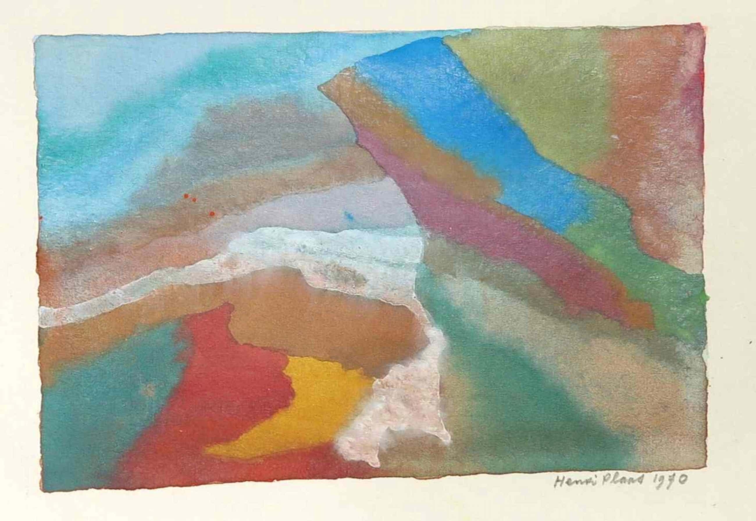 Henri Plaat - Gouache, Abstracte compositie kopen? Bied vanaf 35!
