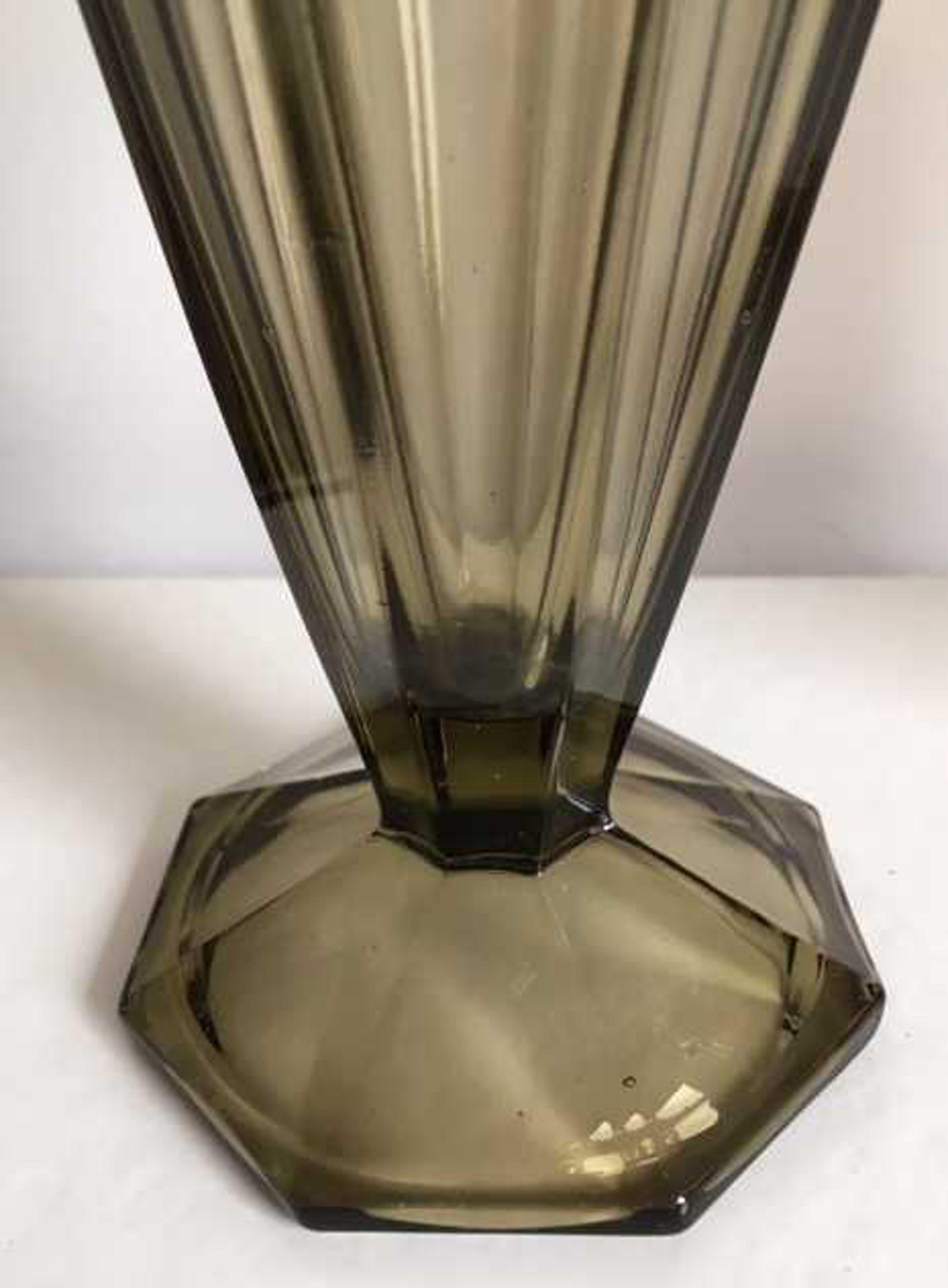 Val-Saint-Lambert - Art Deco 2 Luxval glazen vazen kopen? Bied vanaf 30!